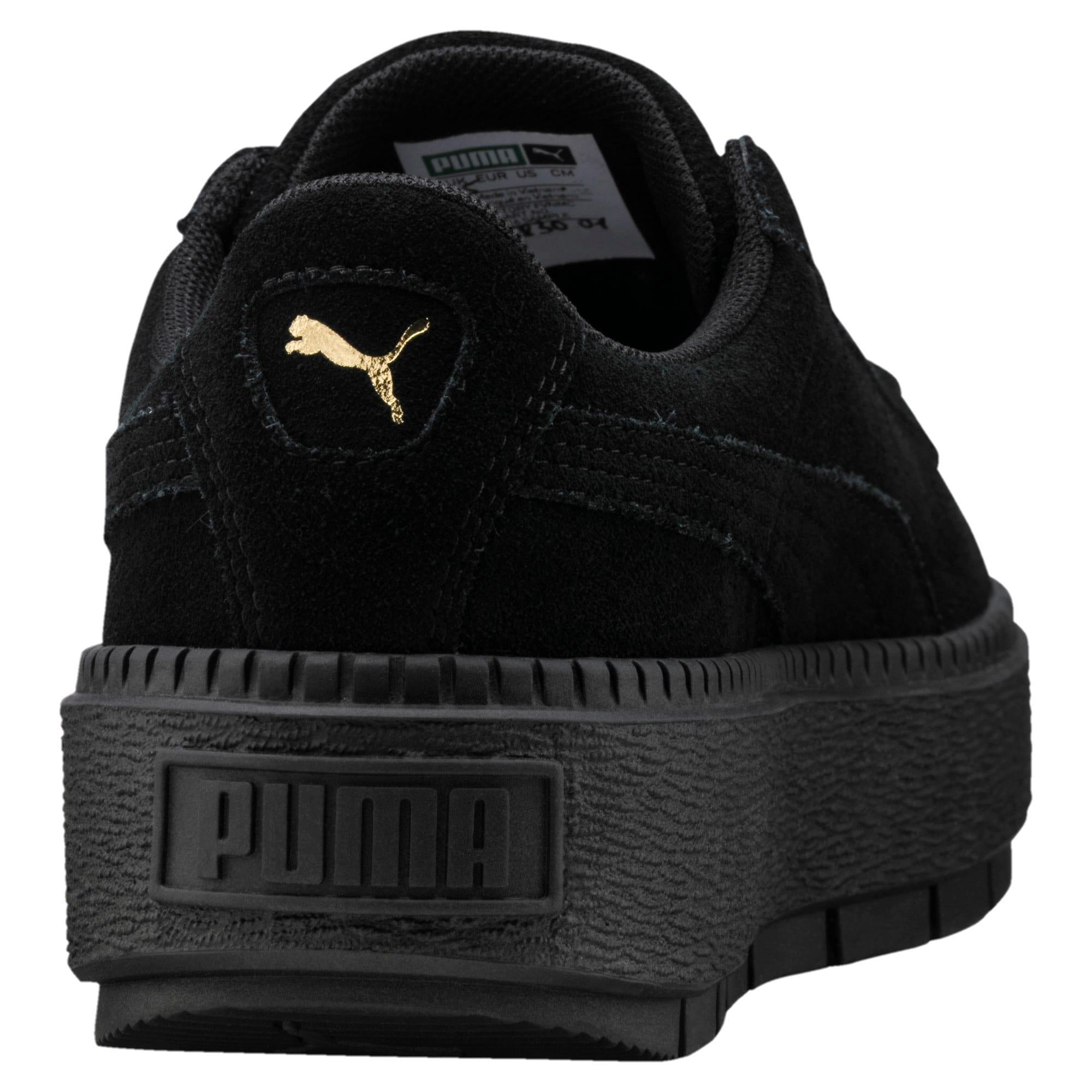 Thumbnail 4 of スウェード プラットフォーム トレース ウィメンズ スニーカー, Puma Black-Puma Black, medium-JPN