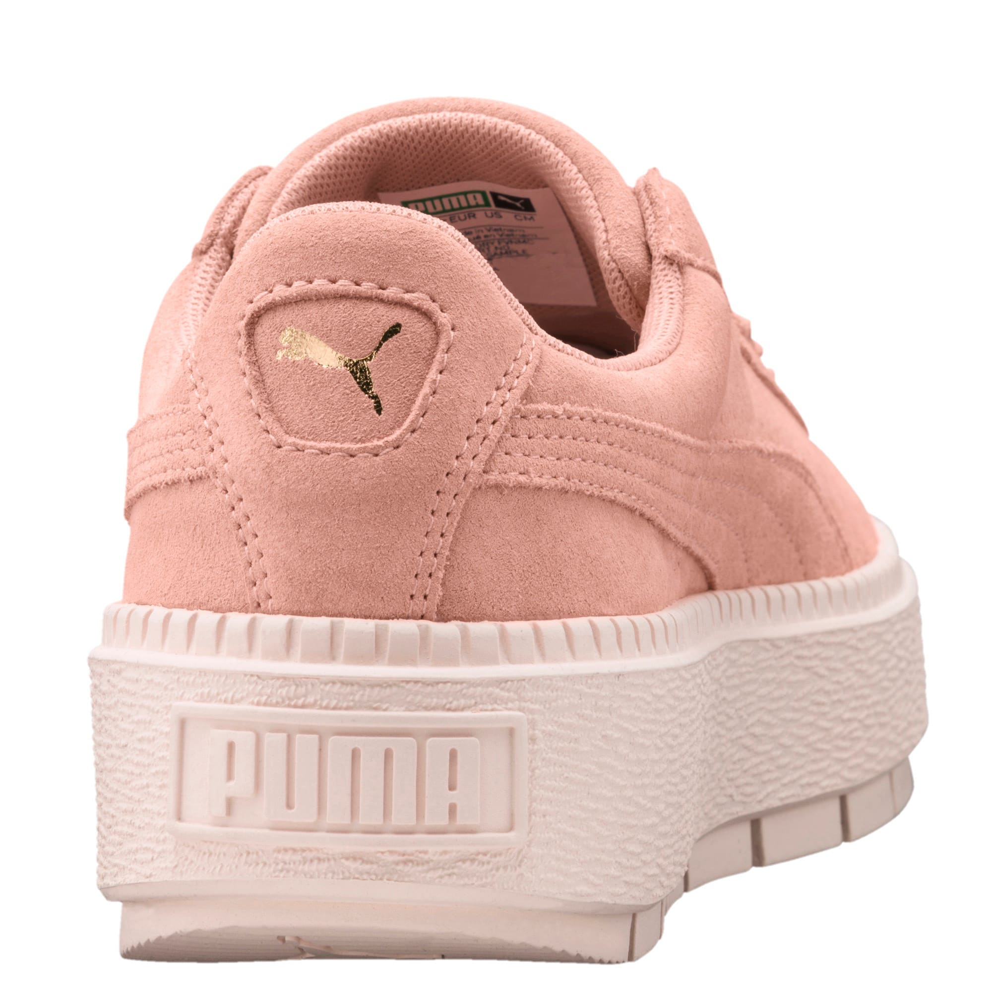 Thumbnail 5 of Platform Trace Women's Trainers, Peach Beige-Pearl, medium-IND