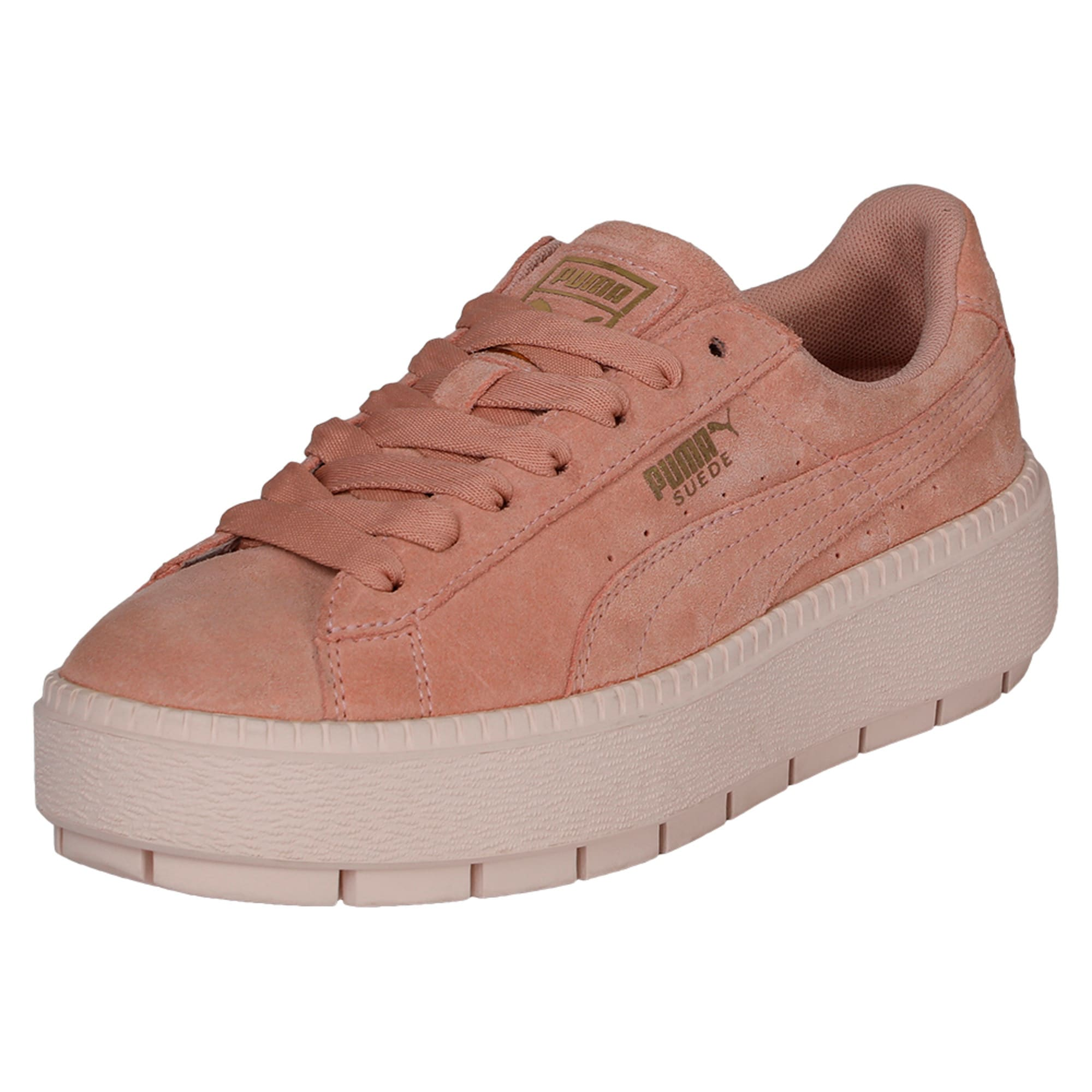 Thumbnail 1 of Platform Trace Women's Trainers, Peach Beige-Pearl, medium-IND
