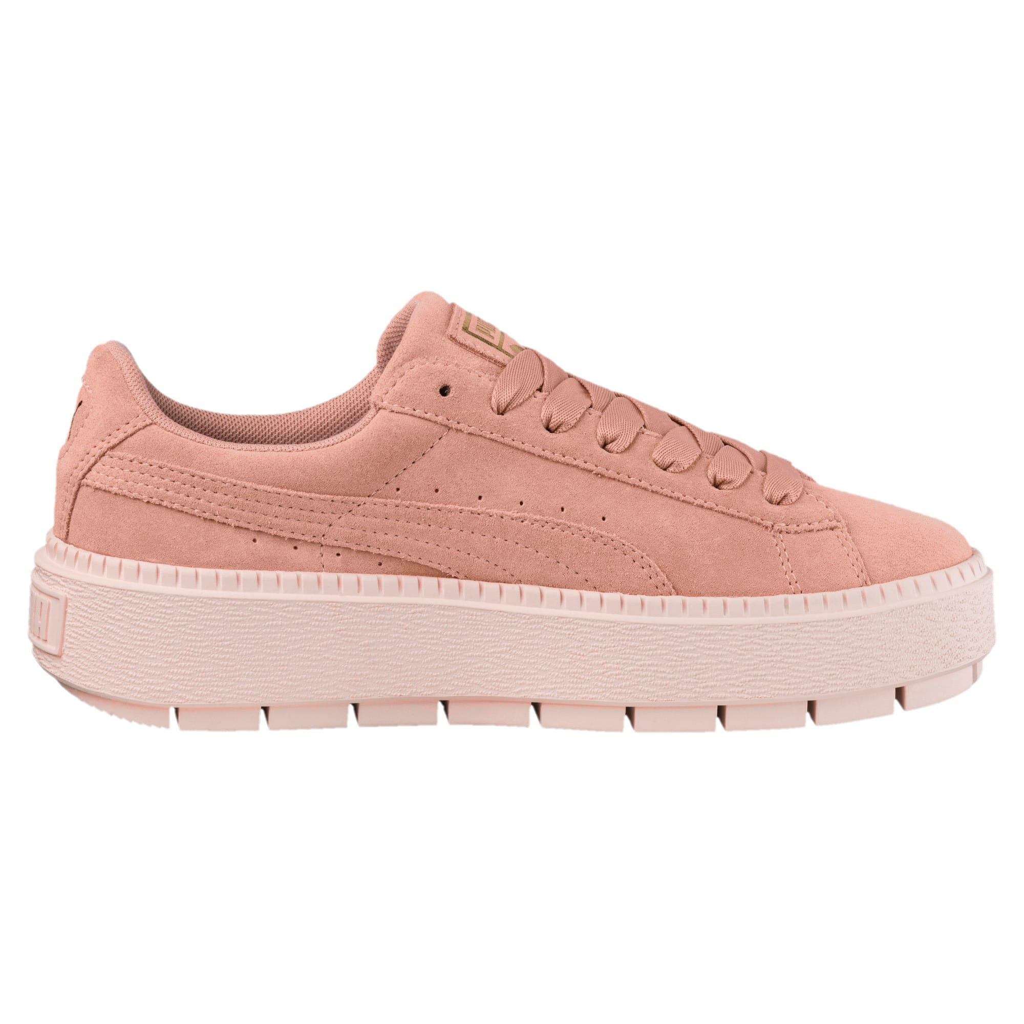 Thumbnail 3 of Platform Trace Women's Trainers, Peach Beige-Pearl, medium-IND