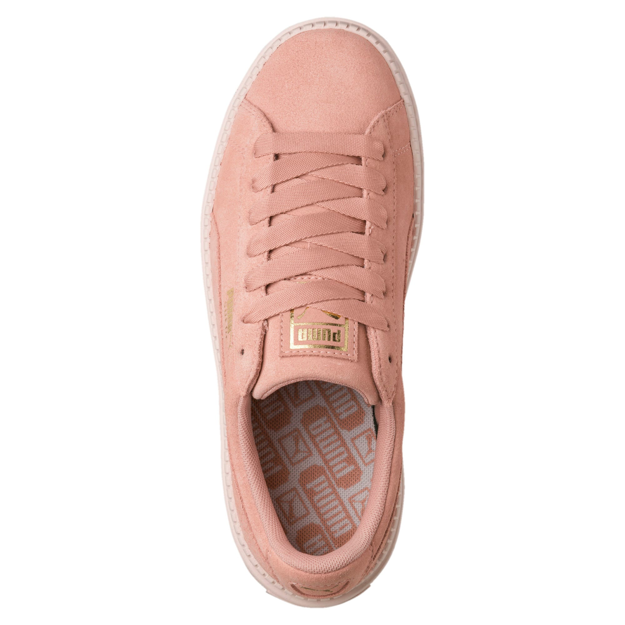 Thumbnail 4 of Platform Trace Women's Trainers, Peach Beige-Pearl, medium-IND