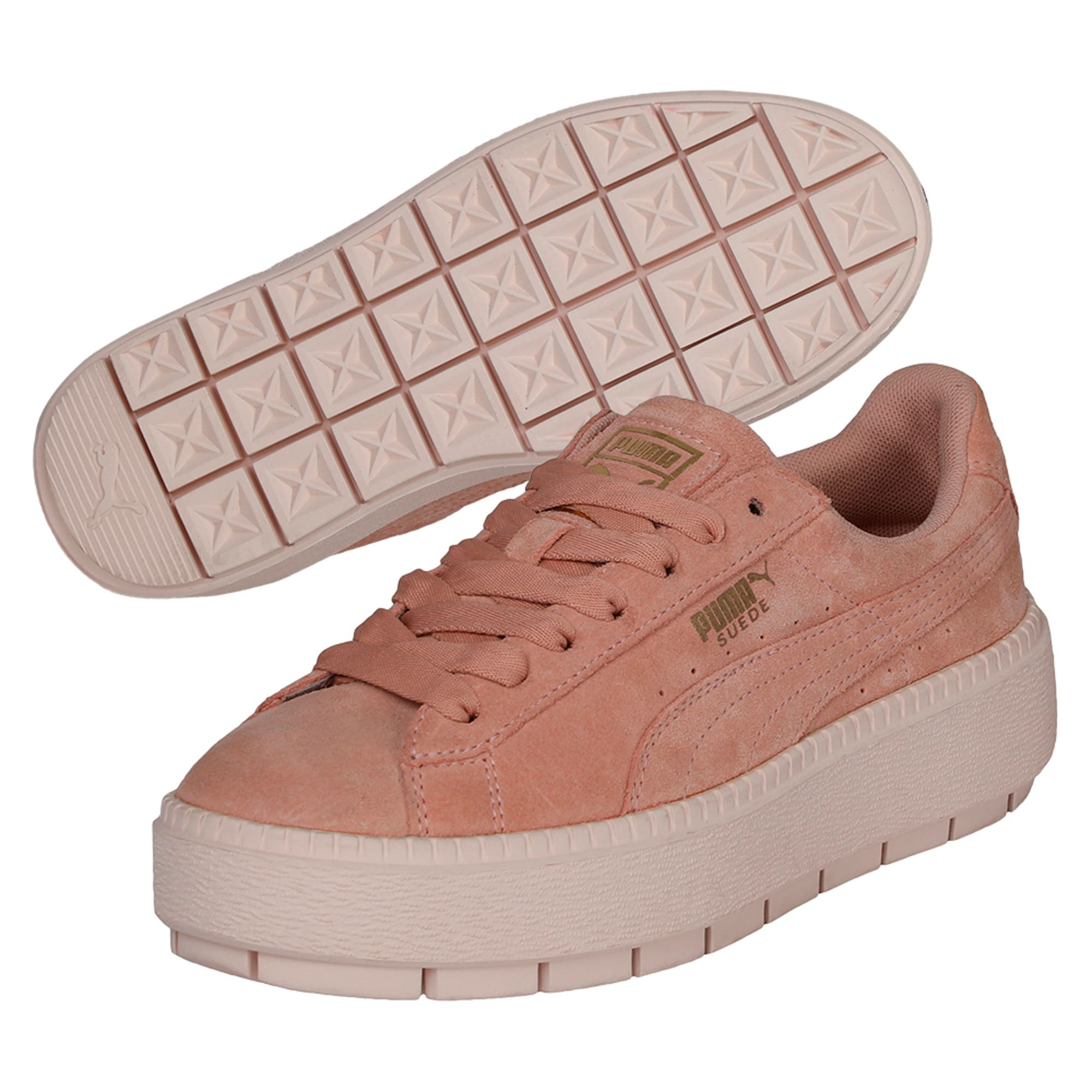 Thumbnail 6 of Platform Trace Women's Trainers, Peach Beige-Pearl, medium-IND