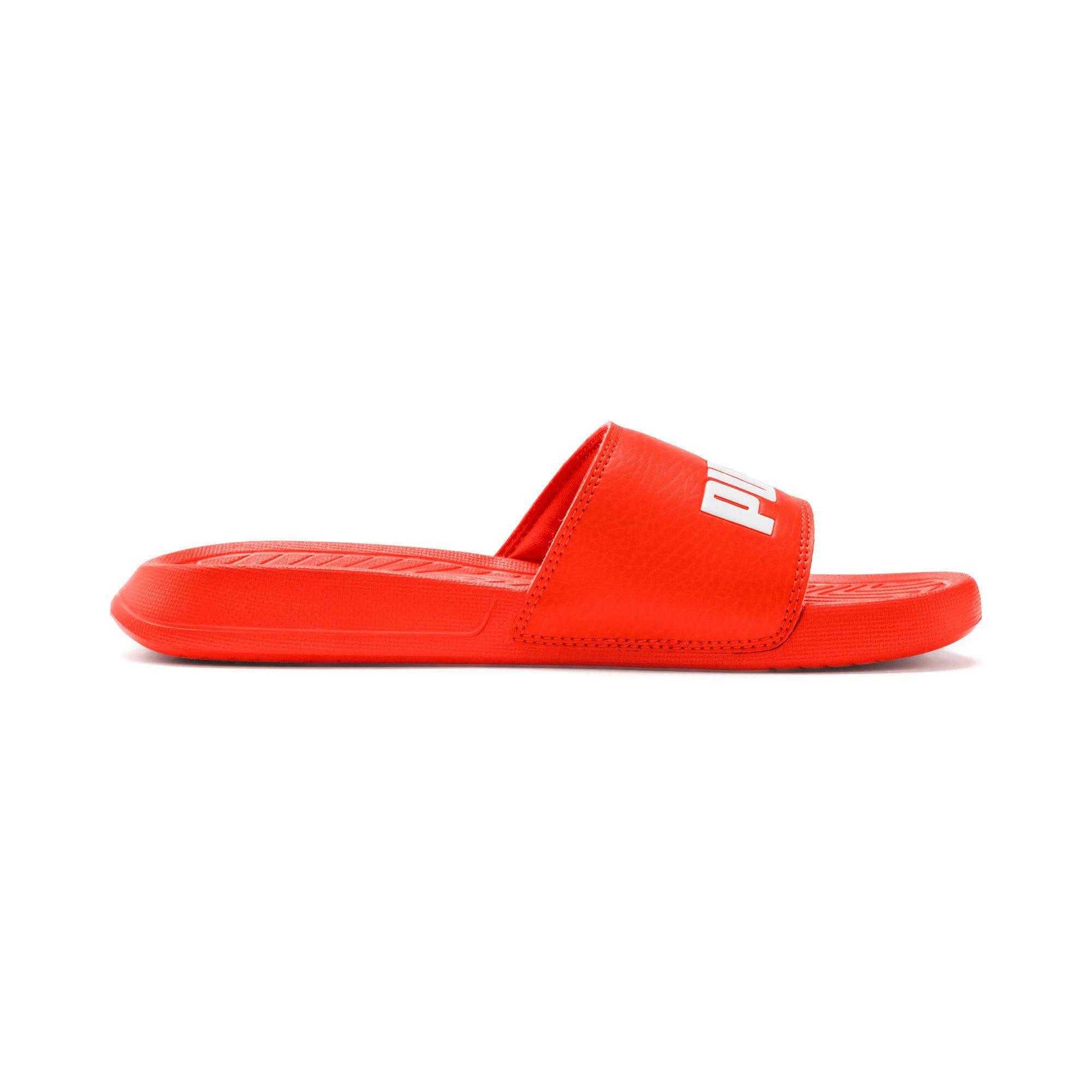 Thumbnail 3 of Popcat Youth Sandal, Cherry Tomato-Puma White, medium-IND