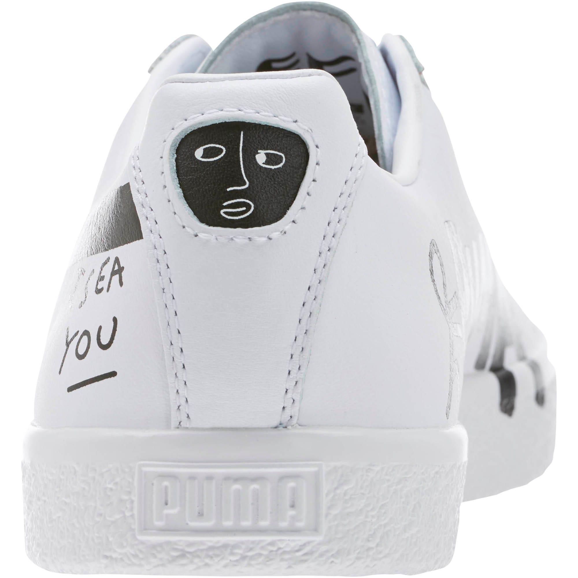 Thumbnail 4 of PUMA x SHANTELL MARTIN Clyde Sneakers, Puma White-Puma Black, medium