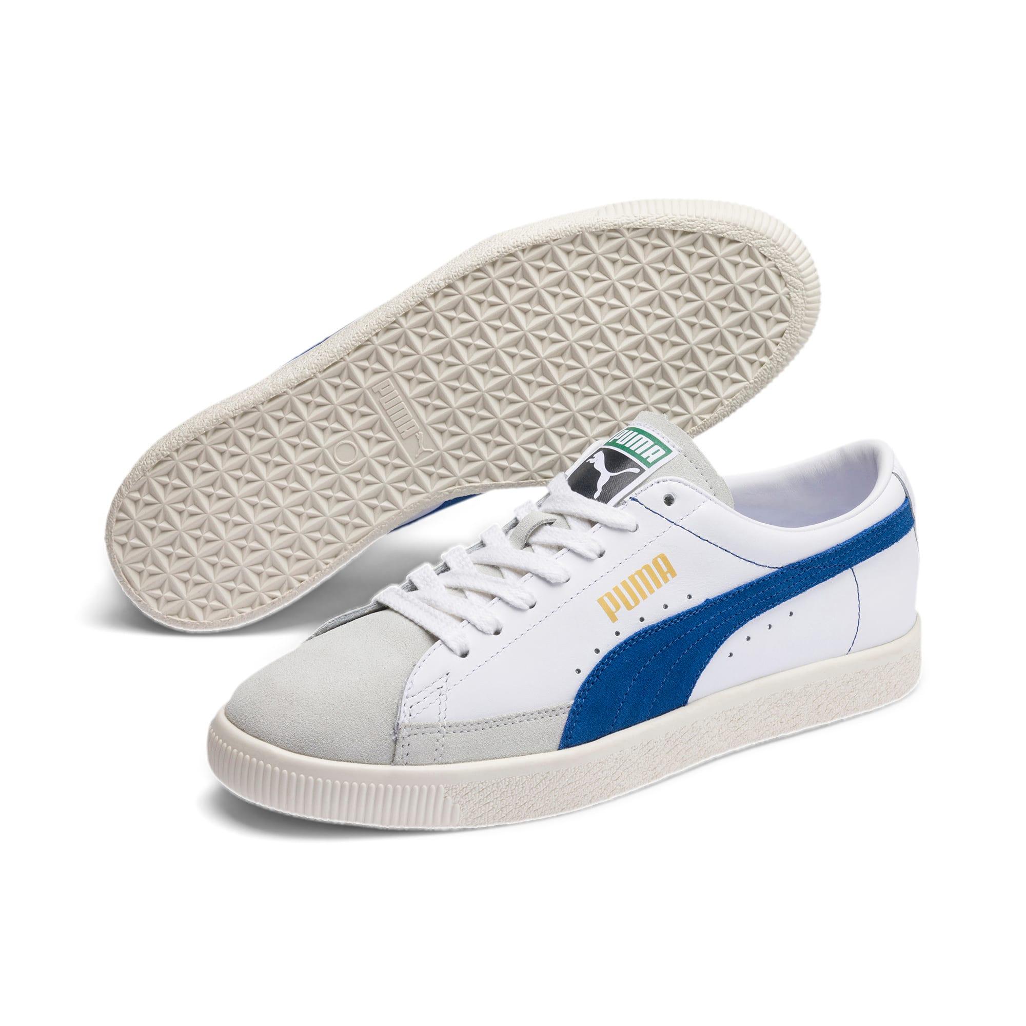 Thumbnail 2 of Basket 90680 Sneakers, Puma White-Galaxy Blue-Whisp, medium