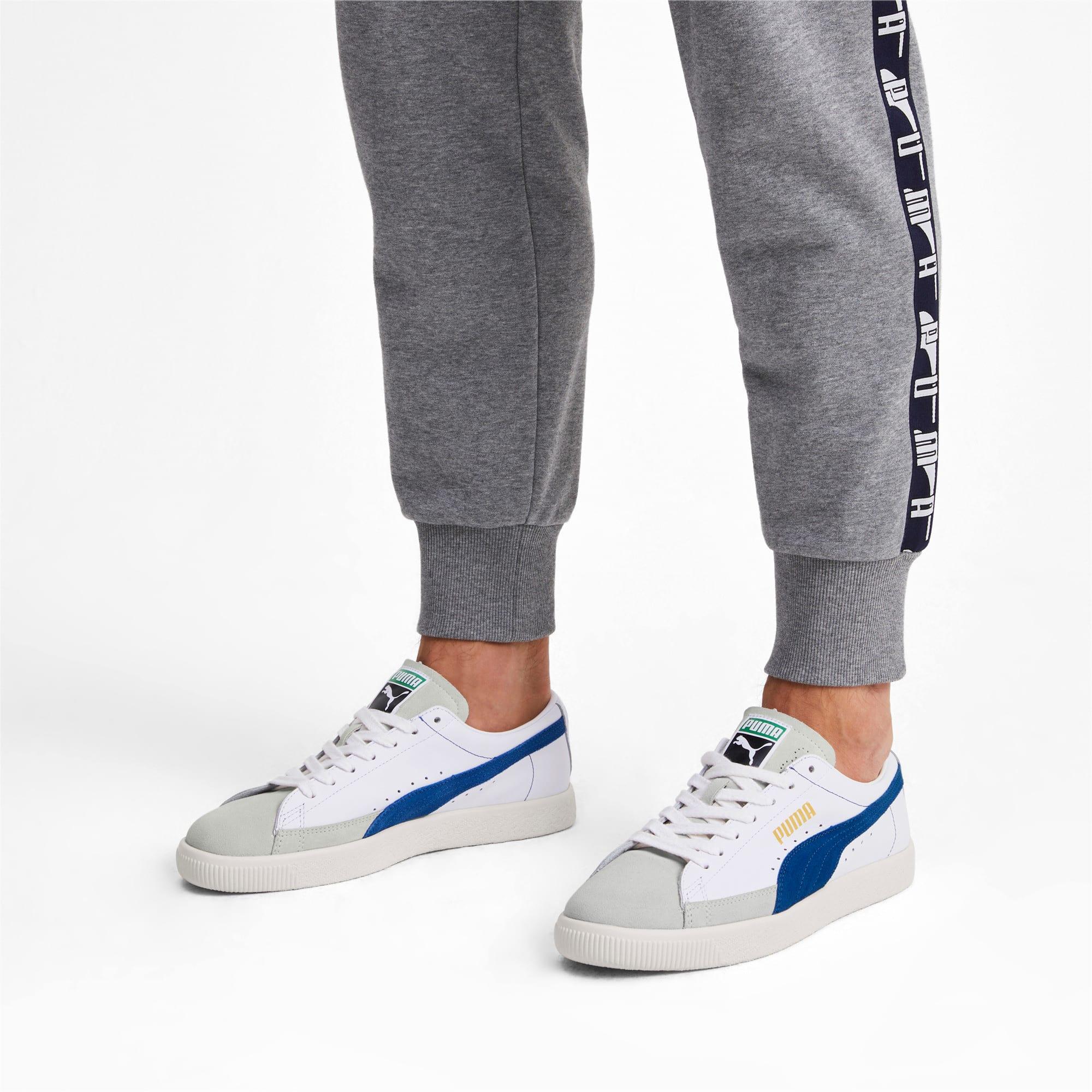 Thumbnail 3 of Basket 90680 Sneakers, Puma White-Galaxy Blue-Whisp, medium