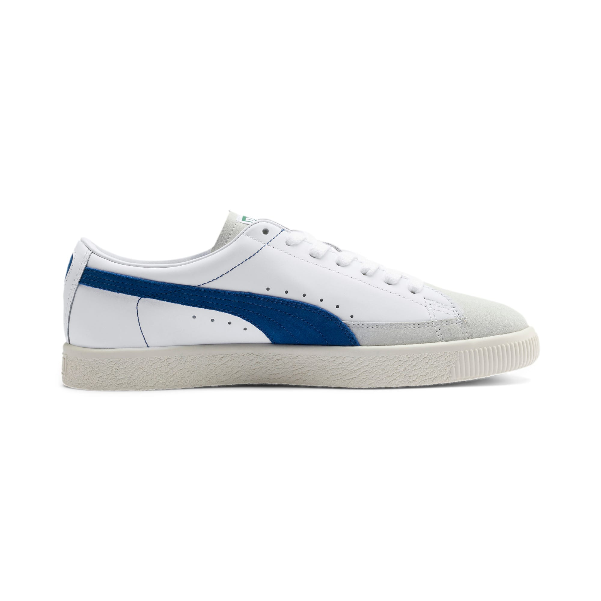 Thumbnail 6 of Basket 90680 Sneakers, Puma White-Galaxy Blue-Whisp, medium