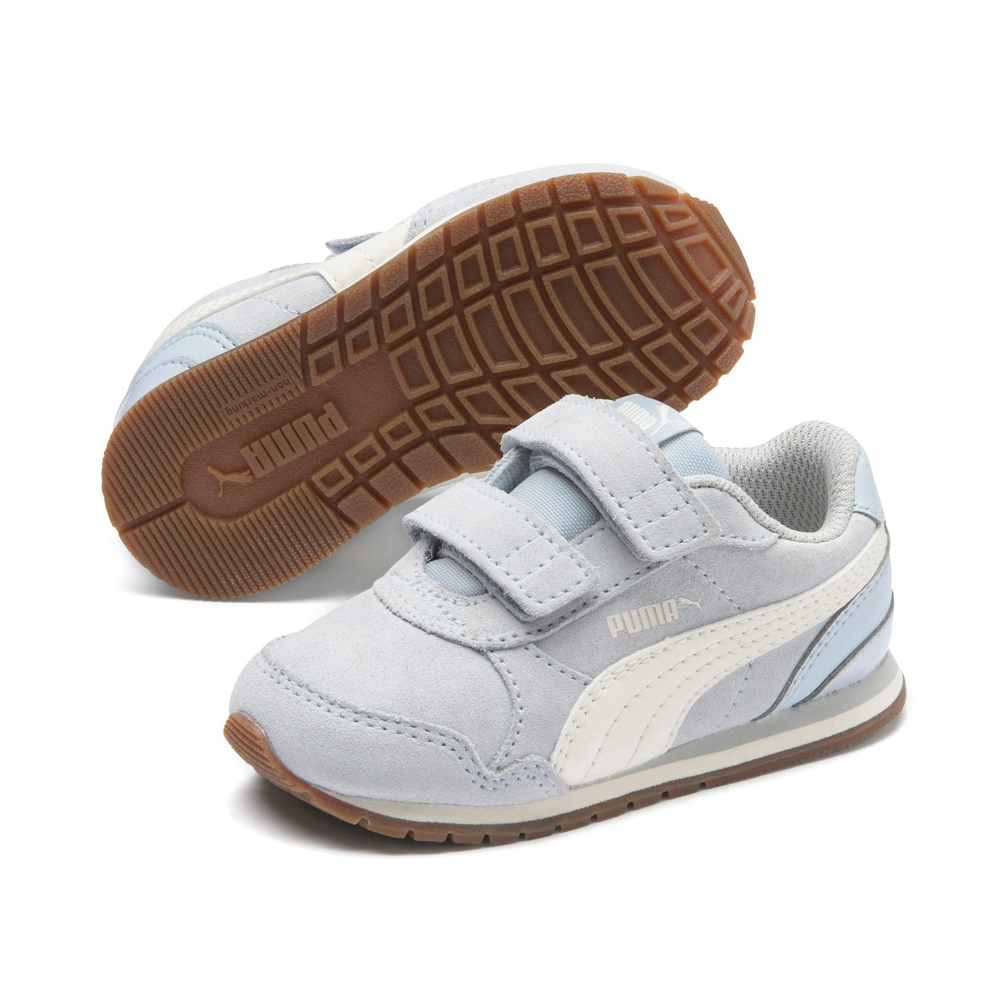 Miniatura 2 de Zapatos ST Runner v2 Suede para bebé, Heather-Whisper White, mediano