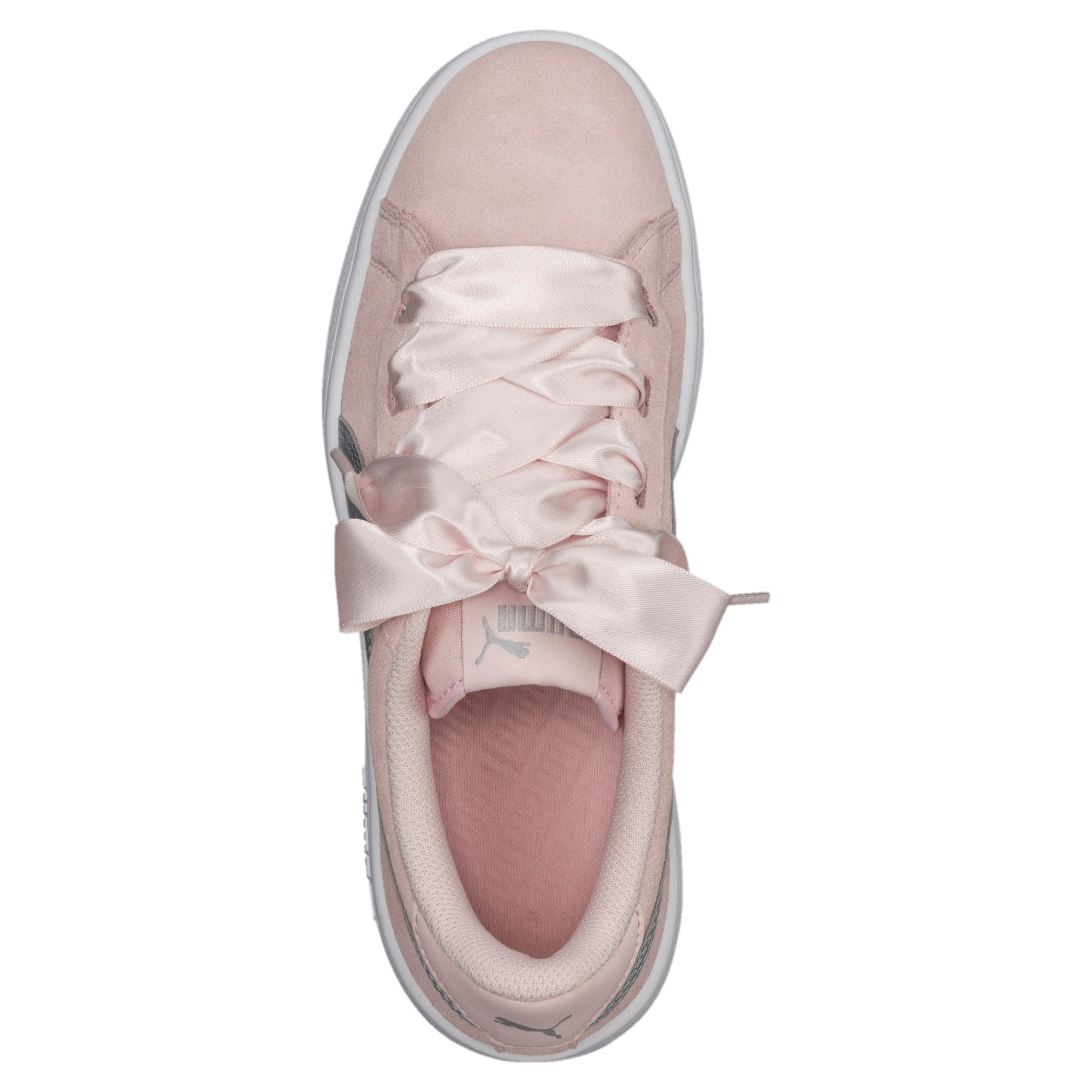 Thumbnail 5 of Smash v2 Ribbon Jr Trainers, Pearl-Puma Silver, medium-IND