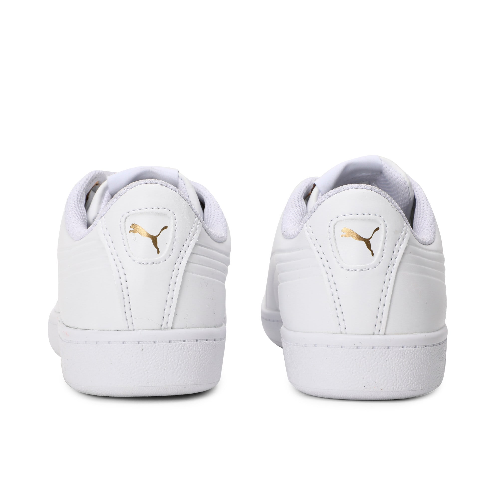 Thumbnail 2 of Women's Puma Vikky Ribbon Sneakers, Puma White-Puma White, medium-IND