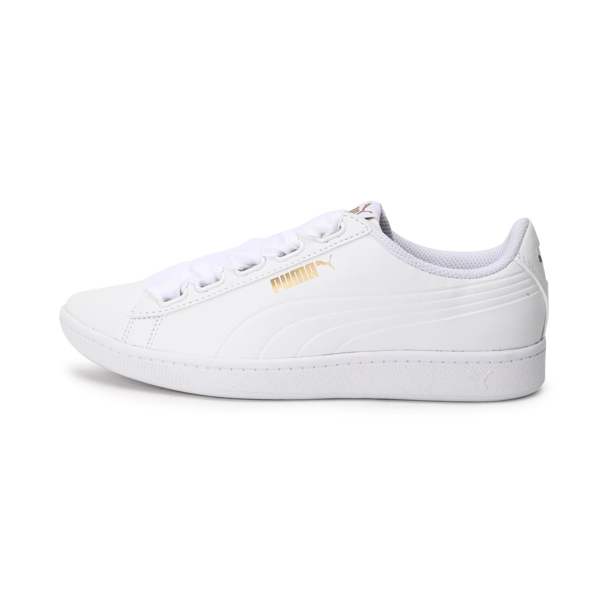 Thumbnail 1 of Women's Puma Vikky Ribbon Sneakers, Puma White-Puma White, medium-IND