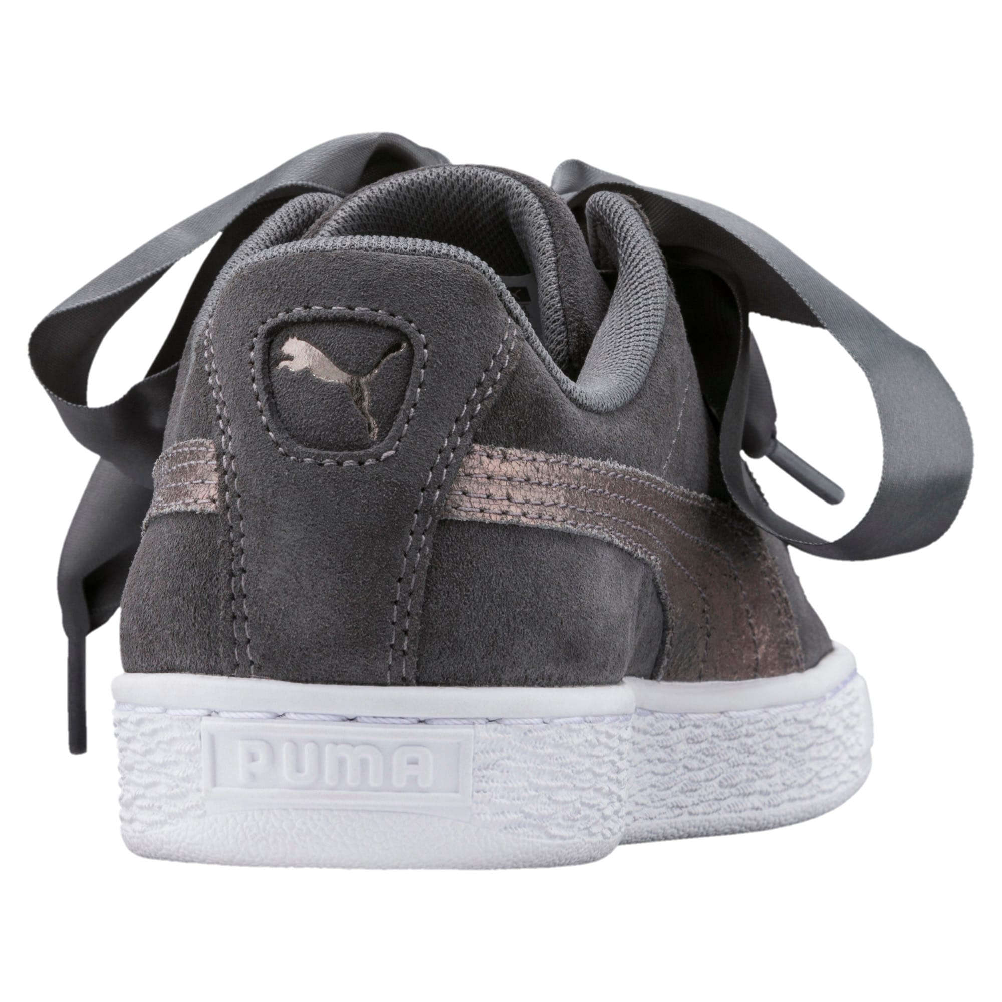 Thumbnail 3 of Suede Heart LunaLux Women's Trainers, Smoked Pearl, medium-IND