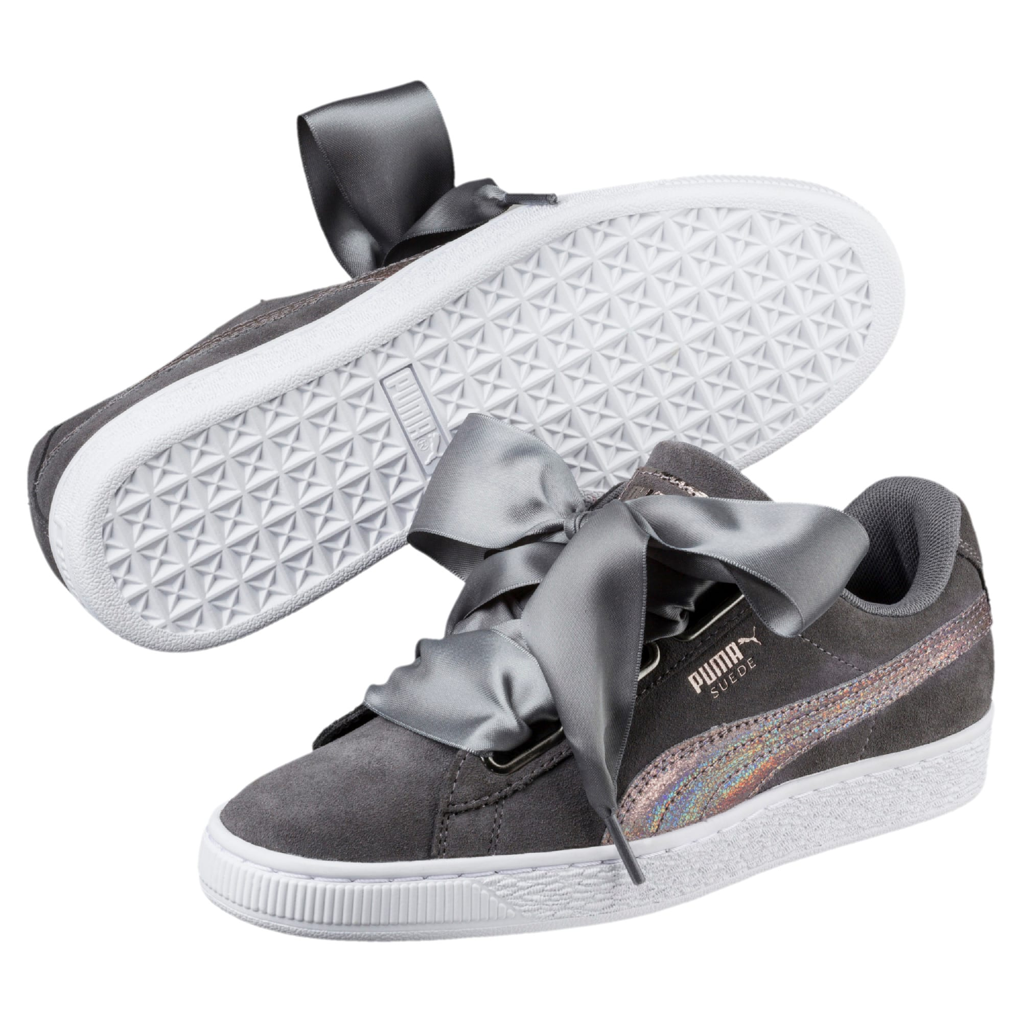 Thumbnail 2 of Suede Heart LunaLux Women's Trainers, Smoked Pearl, medium-IND