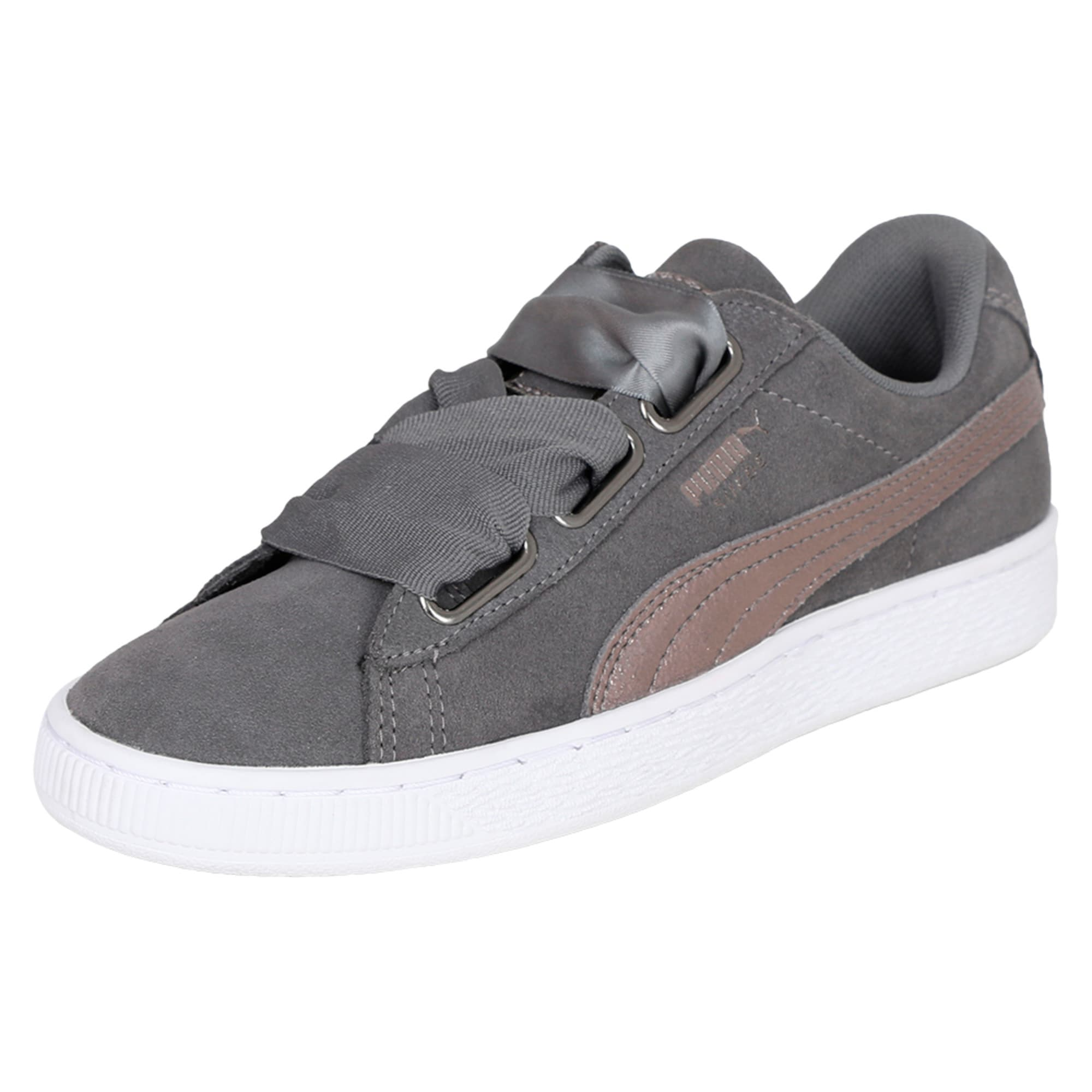 Thumbnail 1 of Suede Heart LunaLux Women's Trainers, Smoked Pearl, medium-IND