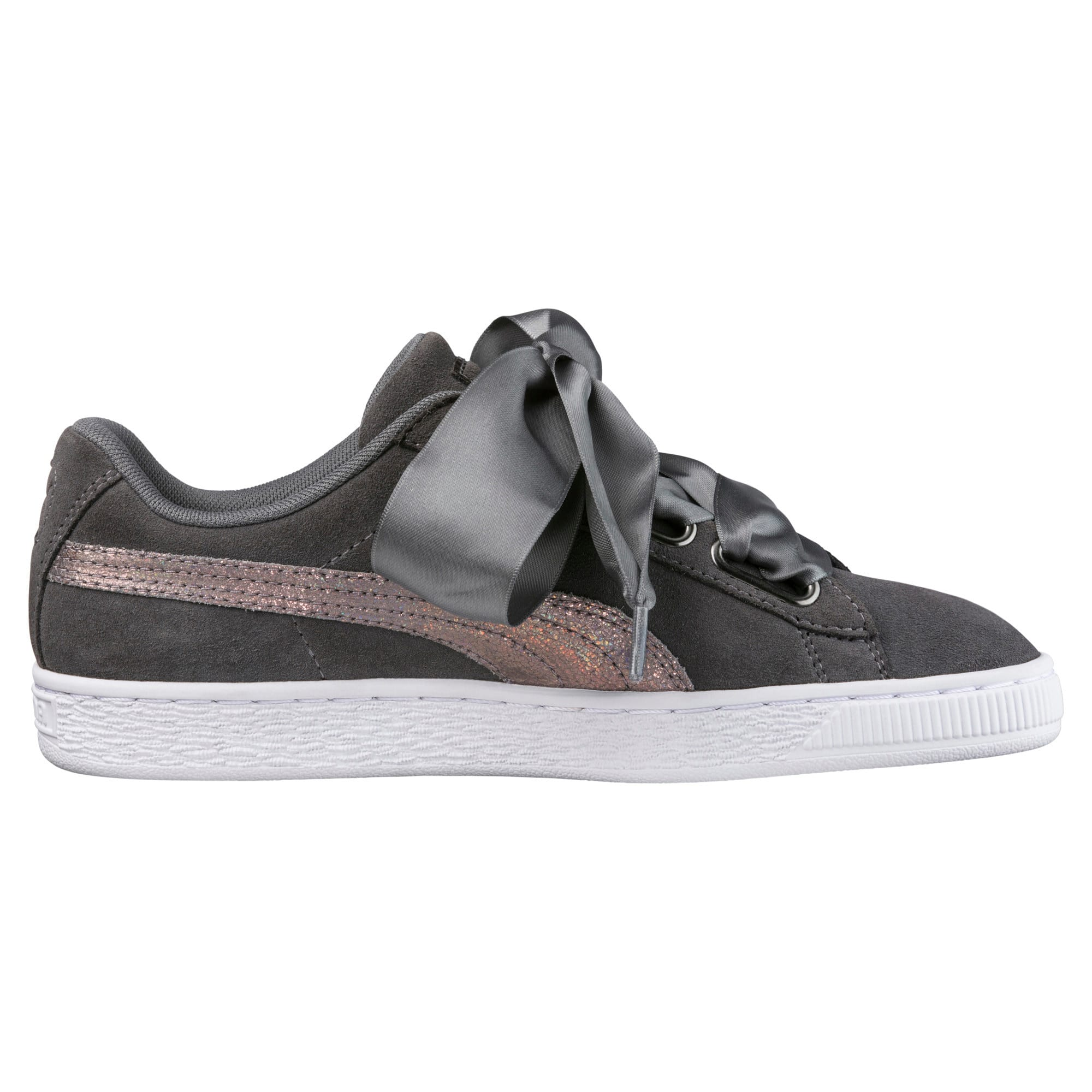 Thumbnail 4 of Suede Heart LunaLux Women's Trainers, Smoked Pearl, medium-IND
