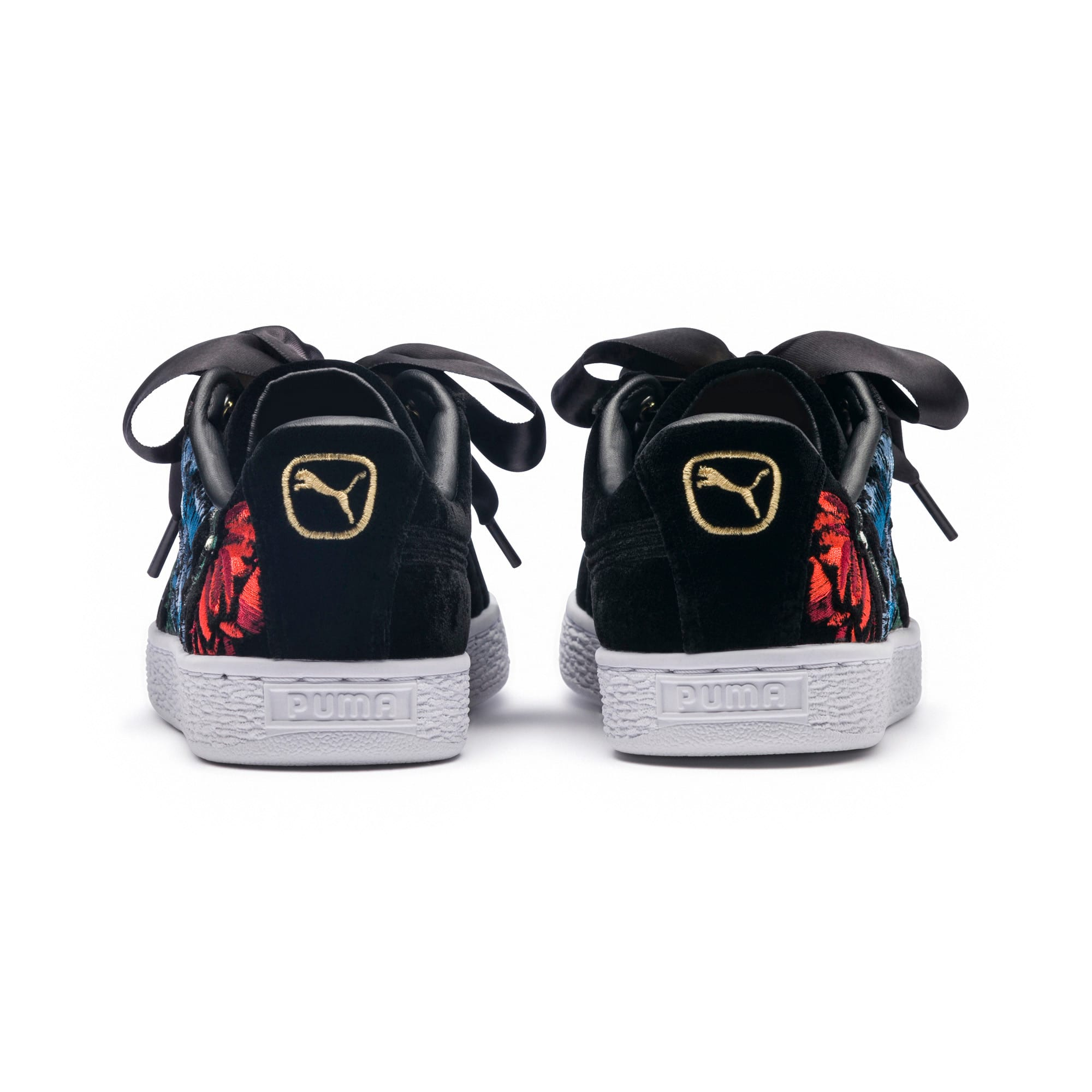 Thumbnail 4 of Basket Heart Hyper Embroidery Women's Trainers, Puma Black, medium-IND