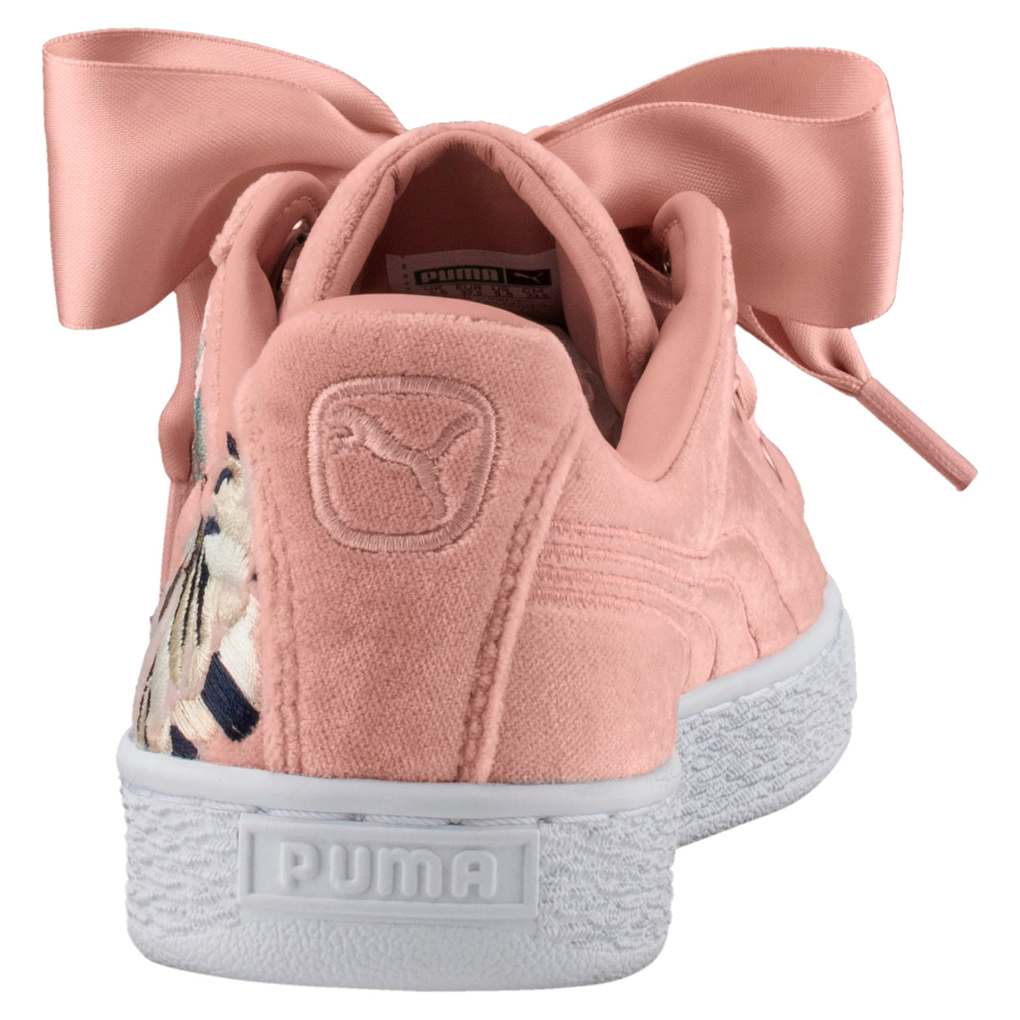 Thumbnail 4 of Basket Heart Hyper Embroidery Women's Trainers, Peach Beige, medium-IND