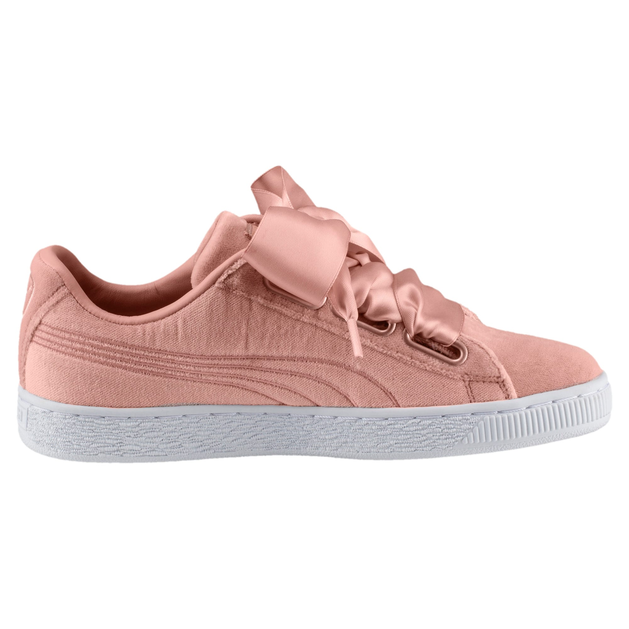Thumbnail 3 of Basket Heart Hyper Embroidery Women's Trainers, Peach Beige, medium-IND