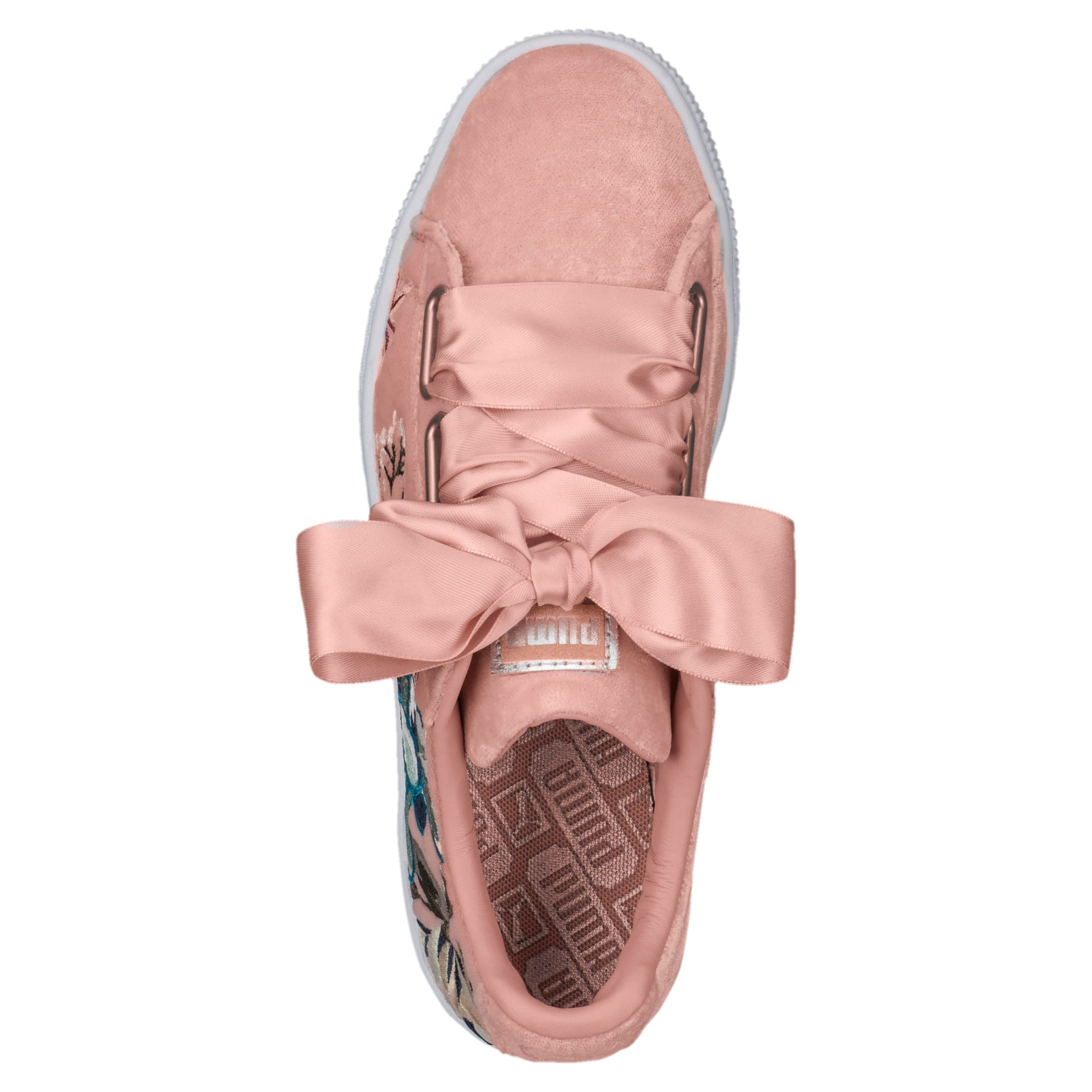 Thumbnail 5 of Basket Heart Hyper Embroidery Women's Trainers, Peach Beige, medium-IND
