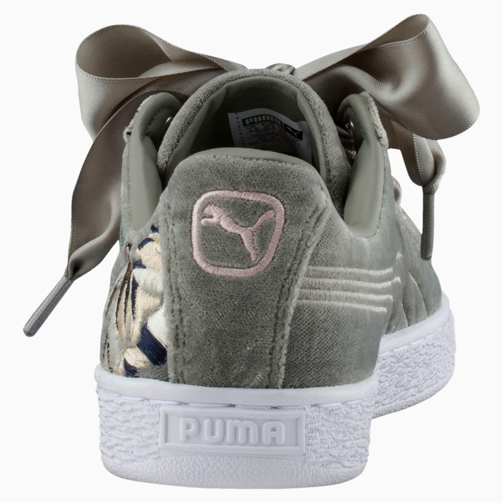 puma basket heart hyper embroidery pour femme