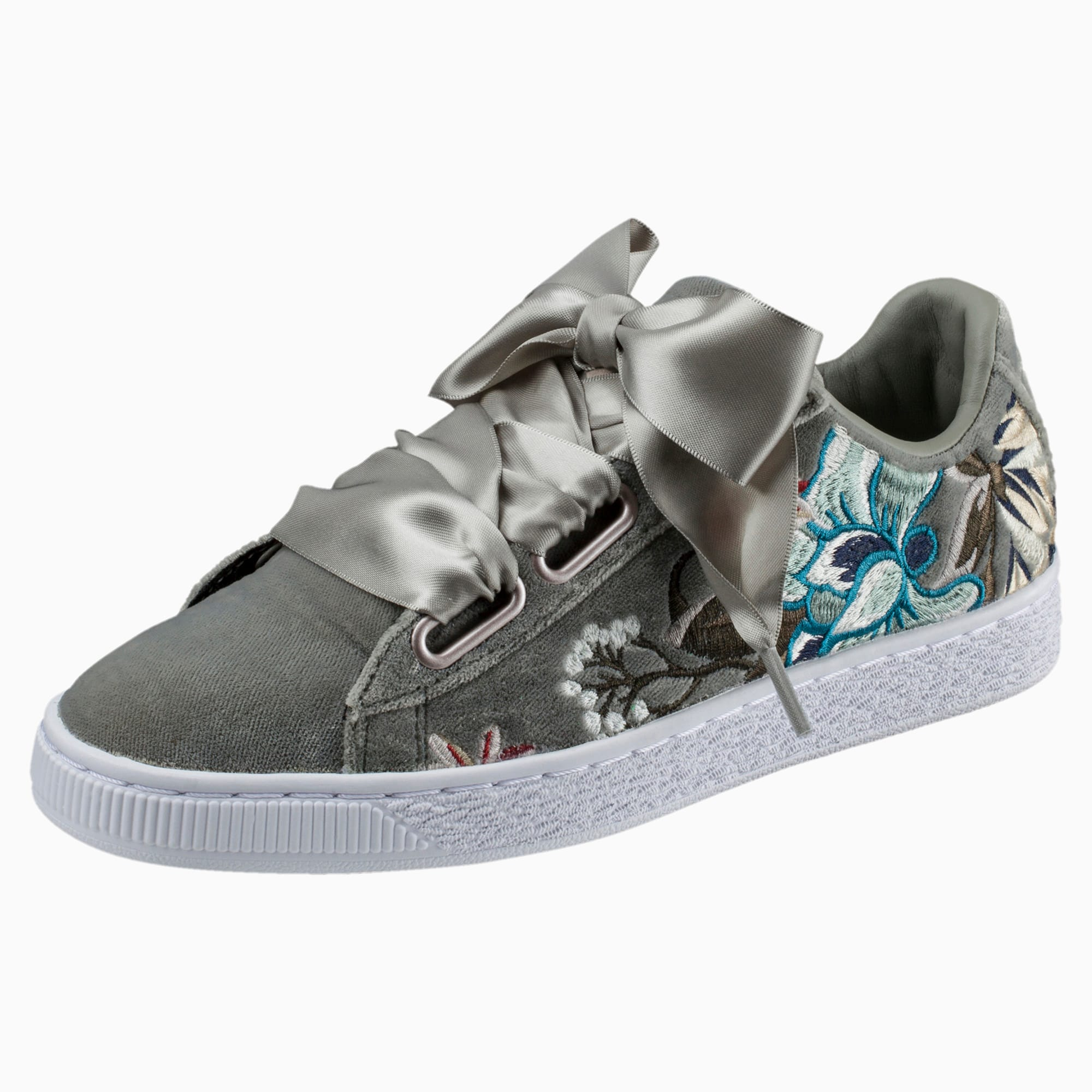 Puma Basket Heart Hyper Embroidered Sneaker | Puma basket