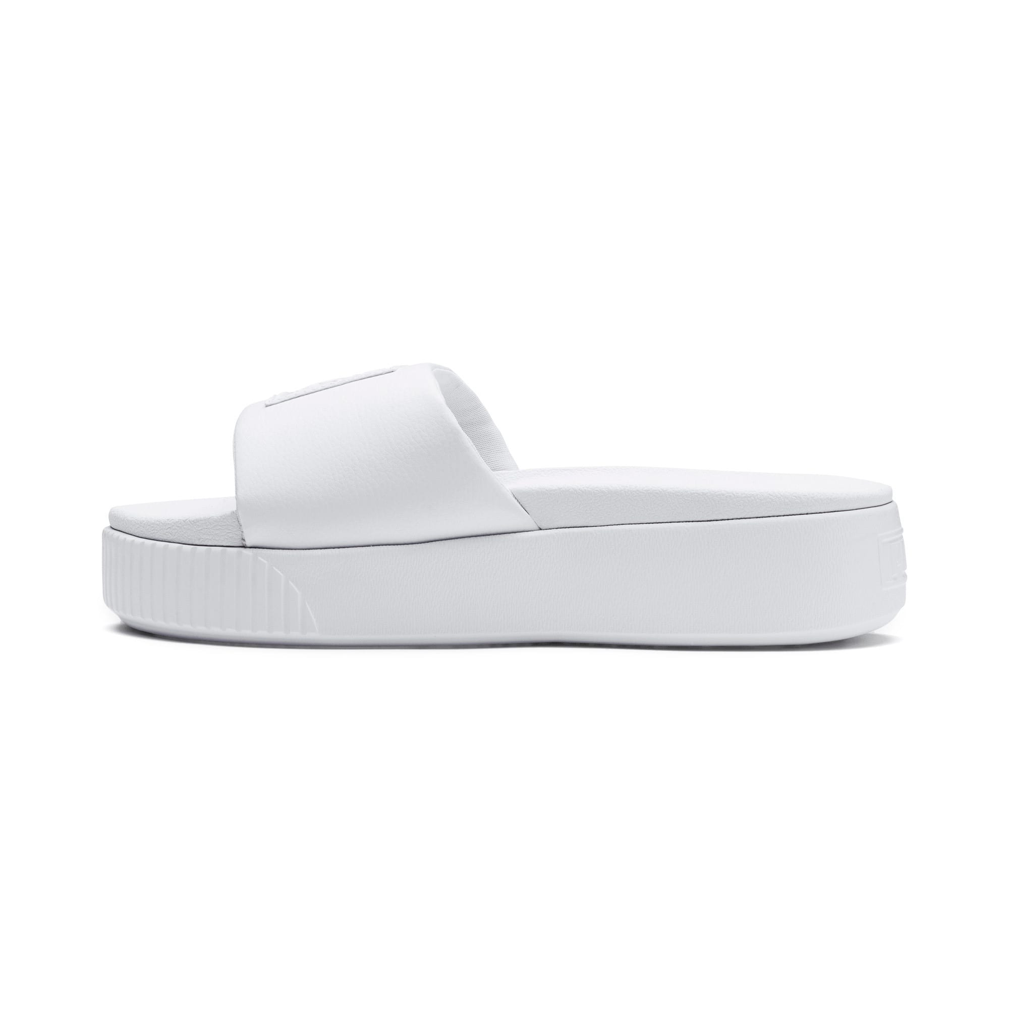 Thumbnail 1 of Platform Slide Women's Sandals, Puma White-Puma White, medium
