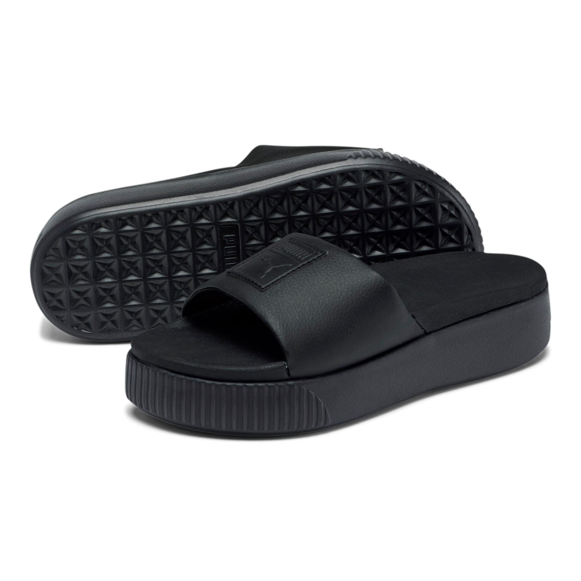 Thumbnail 2 of Platform Slide Women's Sandals, Puma Black-Puma Black, medium