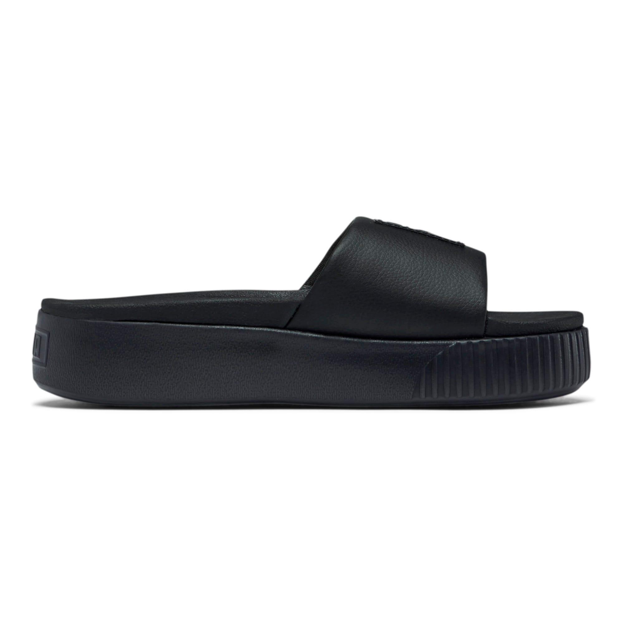Thumbnail 5 of Platform Slide Women's Sandals, Puma Black-Puma Black, medium