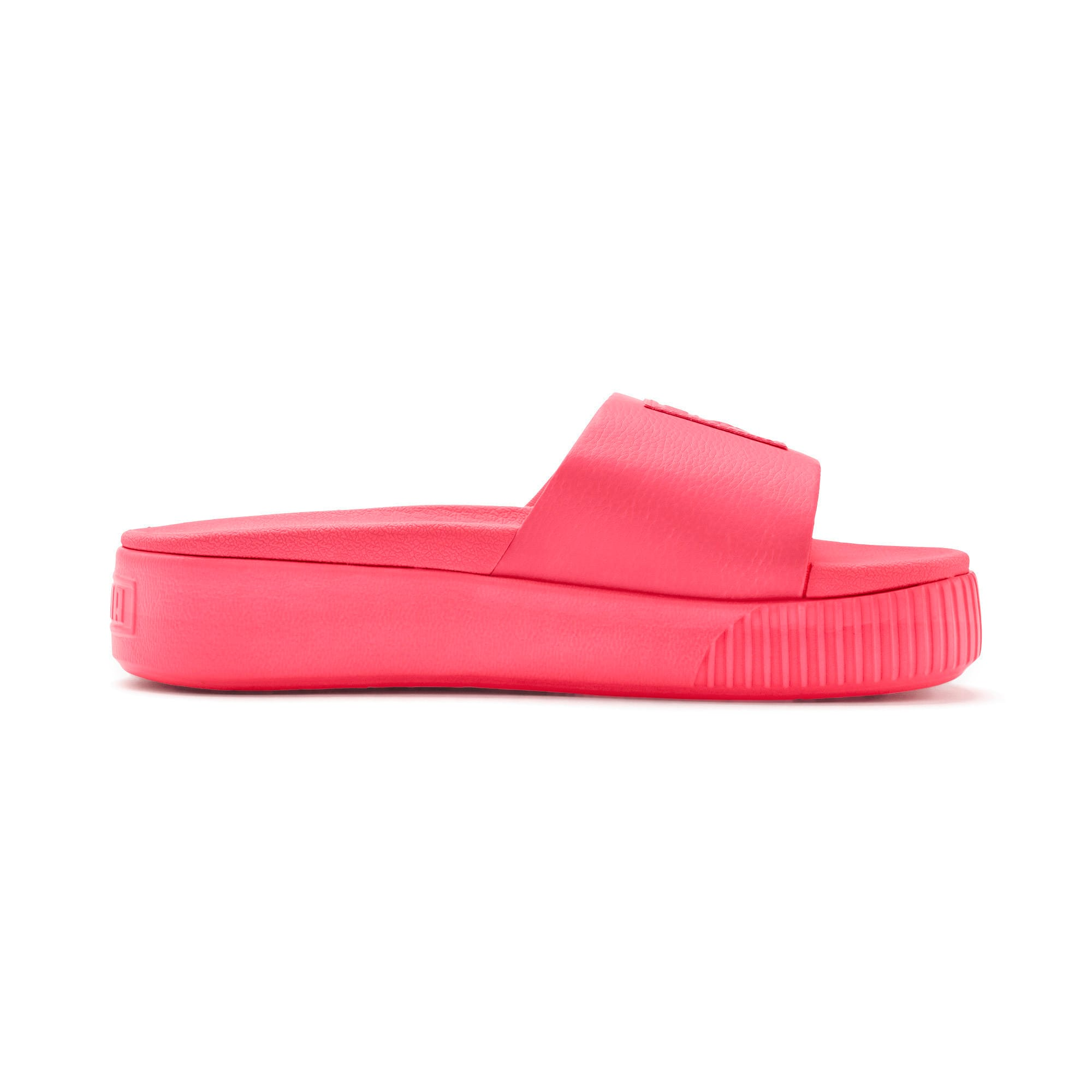 Thumbnail 5 of Platform Slide Women's Sandals, Pink Alert-Pink Alert, medium