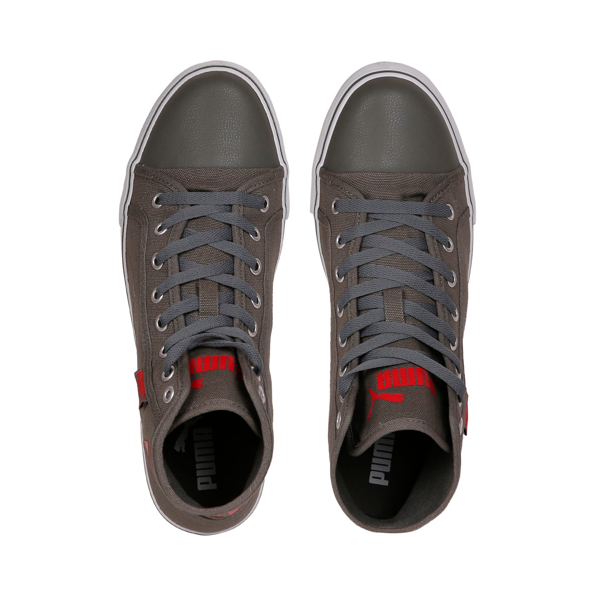 Puma Streetballer Mid IDP, Castor Gray-Flame Scarlet, large-IND