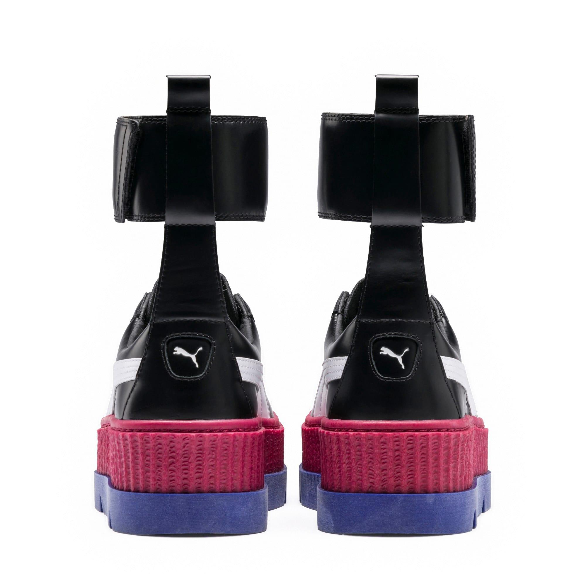 Thumbnail 4 of FENTY Women's Ankle Strap Trainer, Black-White-RedBud-Clematis, medium-IND