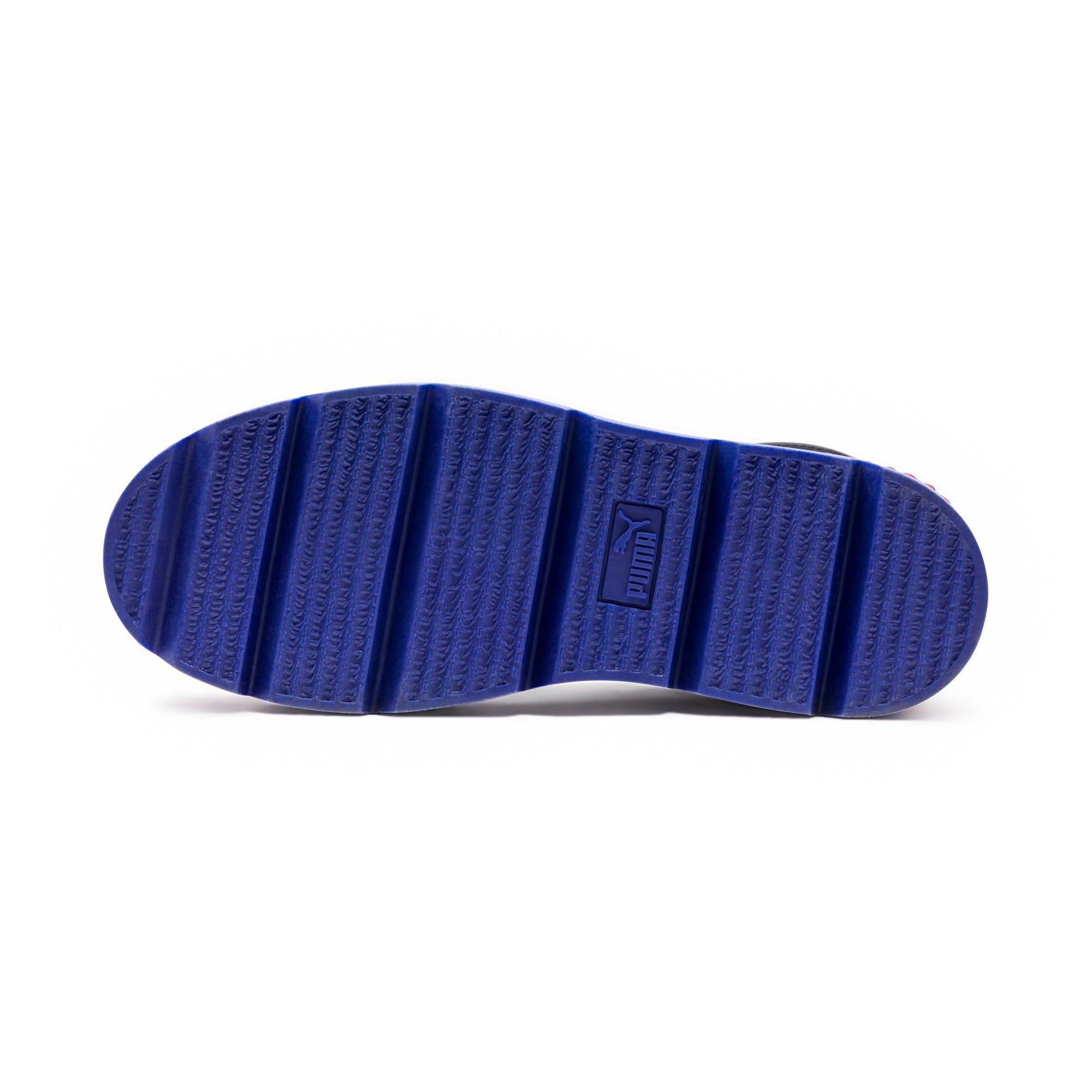 Thumbnail 5 of FENTY Women's Ankle Strap Trainer, Black-White-RedBud-Clematis, medium-IND