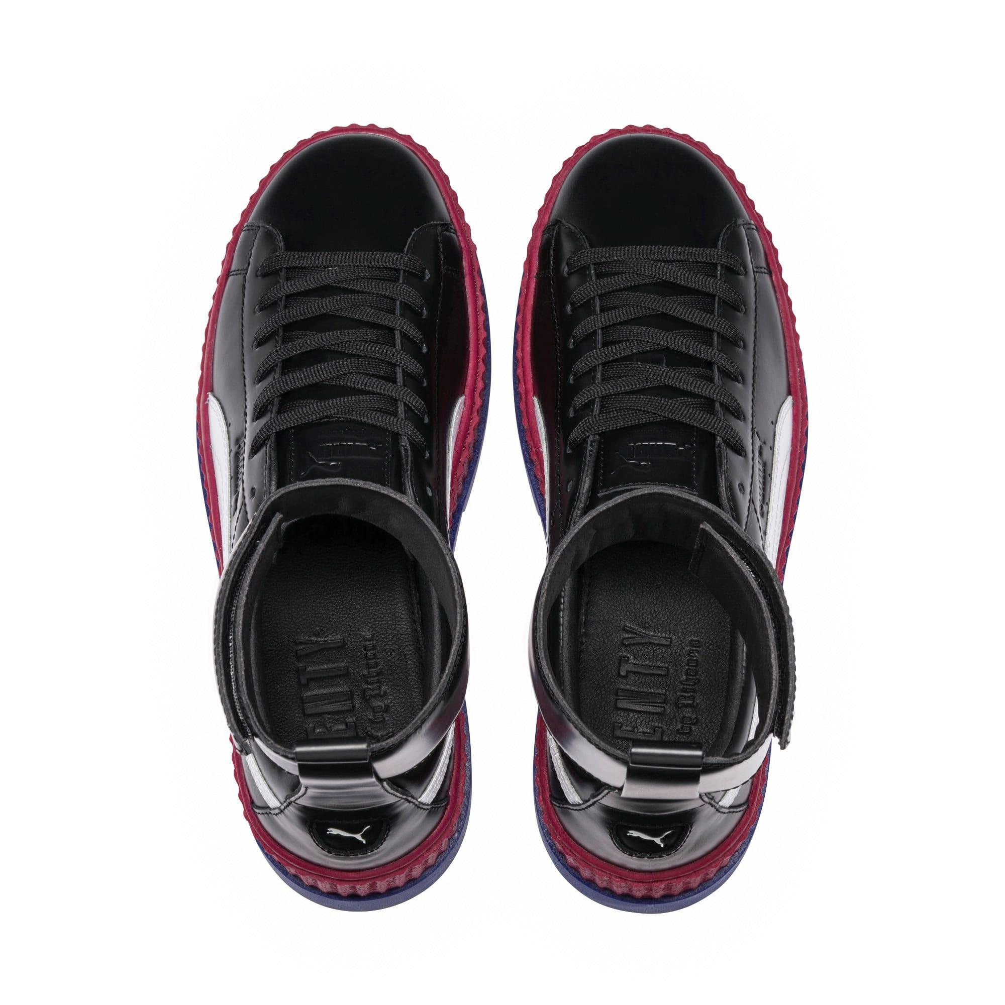Thumbnail 6 of FENTY Women's Ankle Strap Trainer, Black-White-RedBud-Clematis, medium-IND