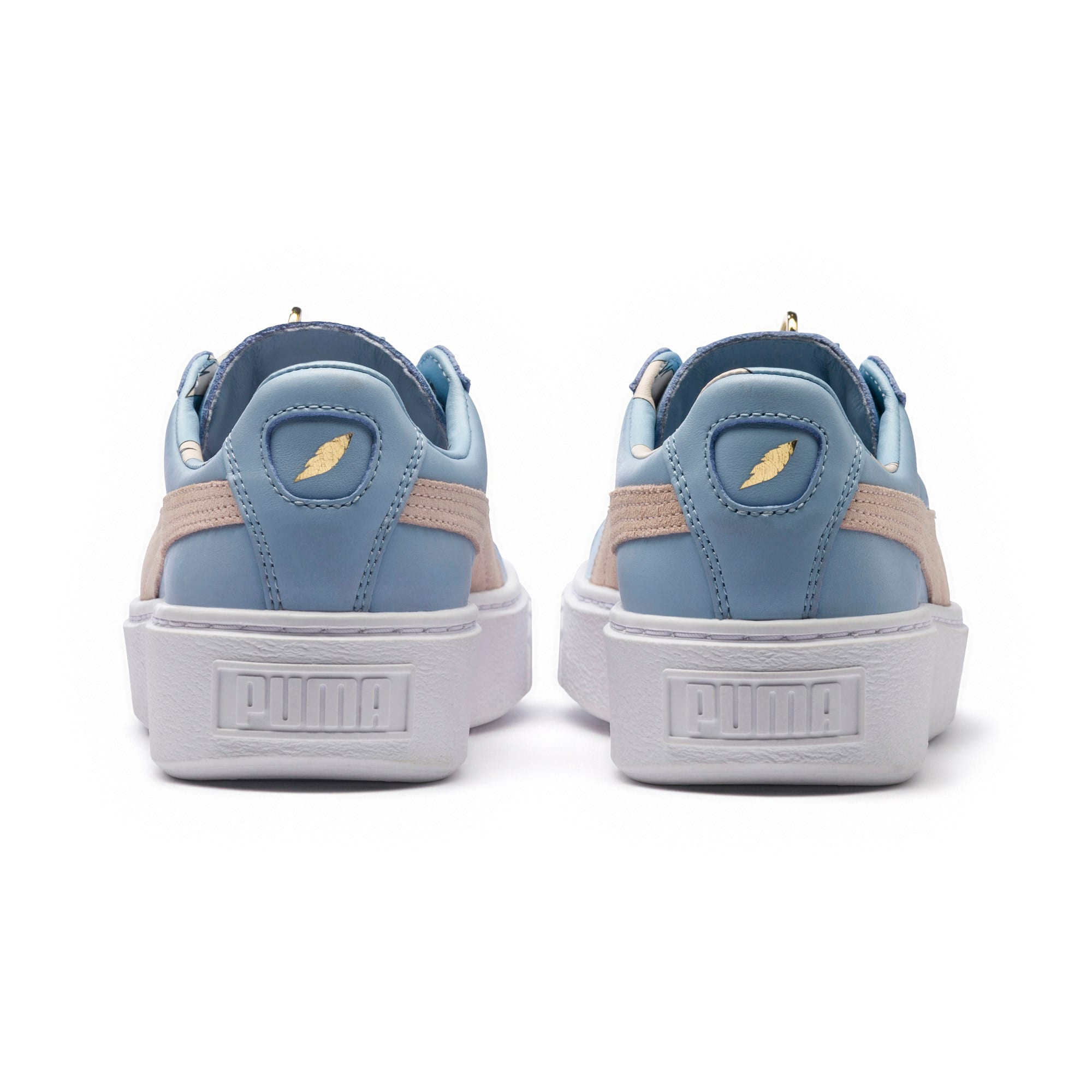 Thumbnail 4 of Basket Platform Coach Women's Trainers, Silver Peony-Cashmere Blue, medium-IND