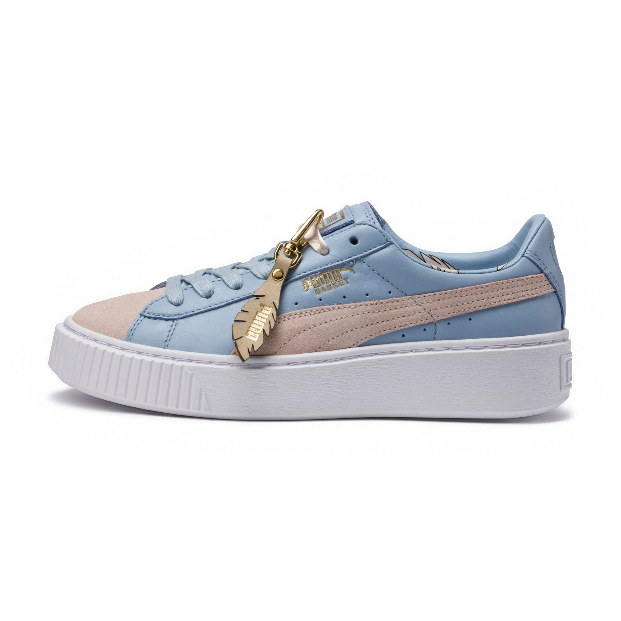 Thumbnail 6 of Basket Platform Coach Women's Trainers, Silver Peony-Cashmere Blue, medium-IND