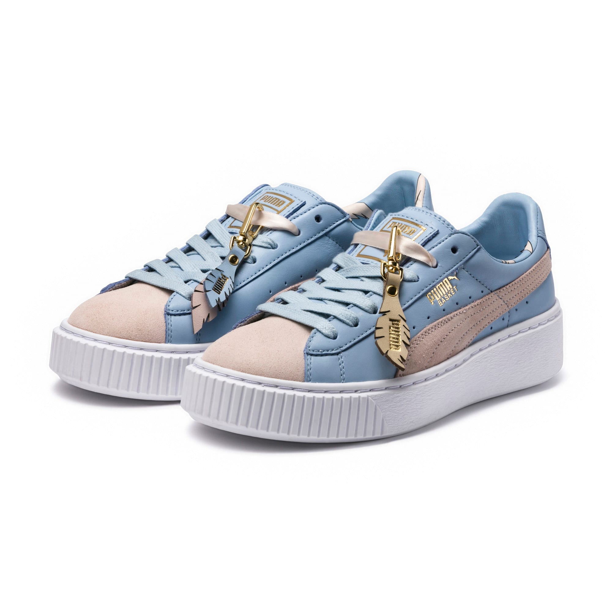 Thumbnail 2 of Basket Platform Coach Women's Trainers, Silver Peony-Cashmere Blue, medium-IND