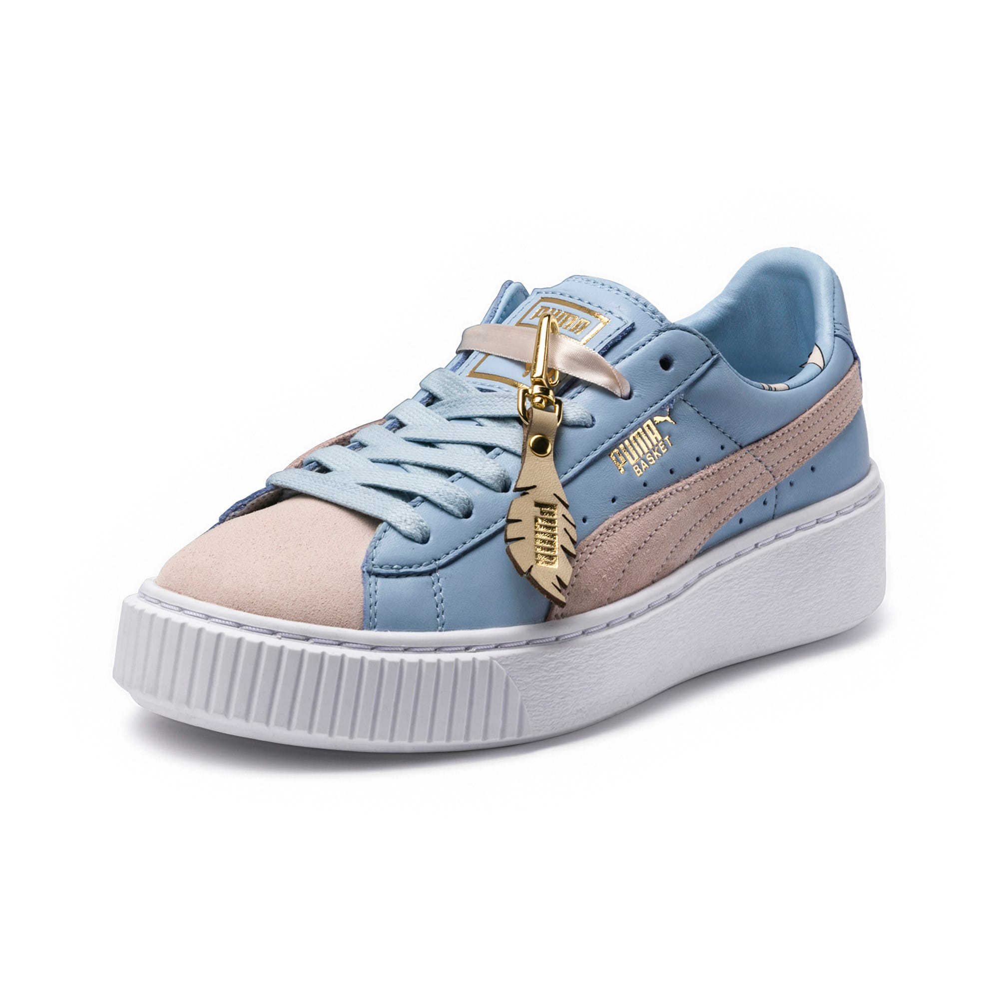 Thumbnail 1 of Basket Platform Coach Women's Trainers, Silver Peony-Cashmere Blue, medium-IND