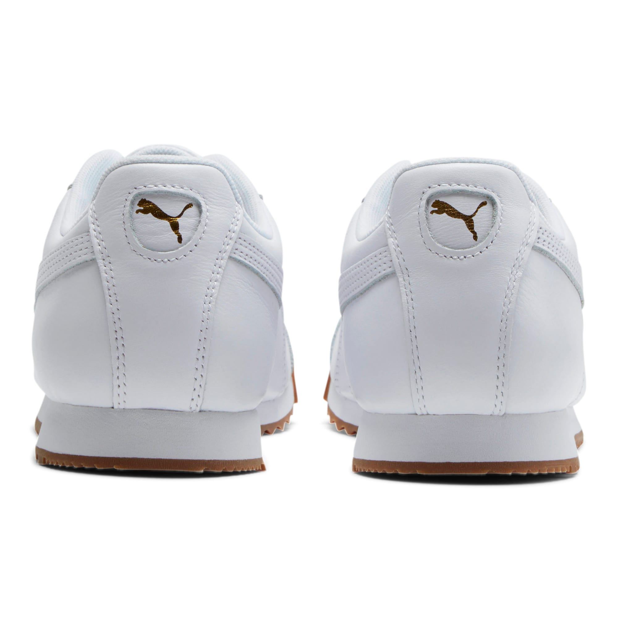 Thumbnail 3 of Roma Classic Gum Sneakers, Puma White-Puma Team Gold, medium