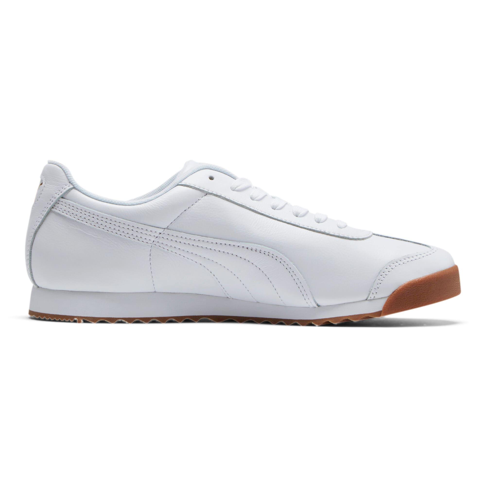 Thumbnail 5 of Roma Classic Gum Sneakers, Puma White-Puma Team Gold, medium