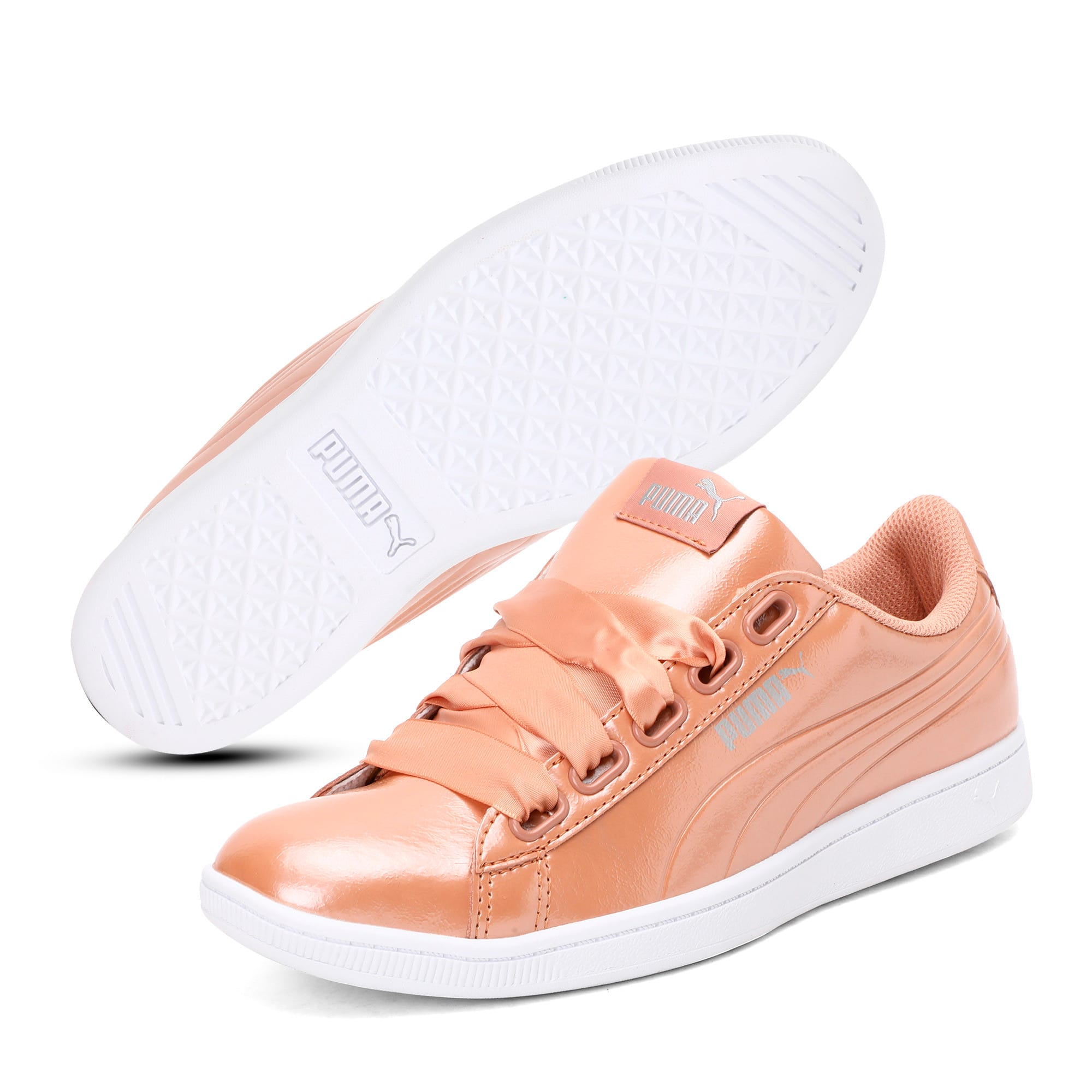 Thumbnail 2 of Vikky Ribbon Patent Women's Trainers, Dusty Coral-Dusty Coral, medium-IND