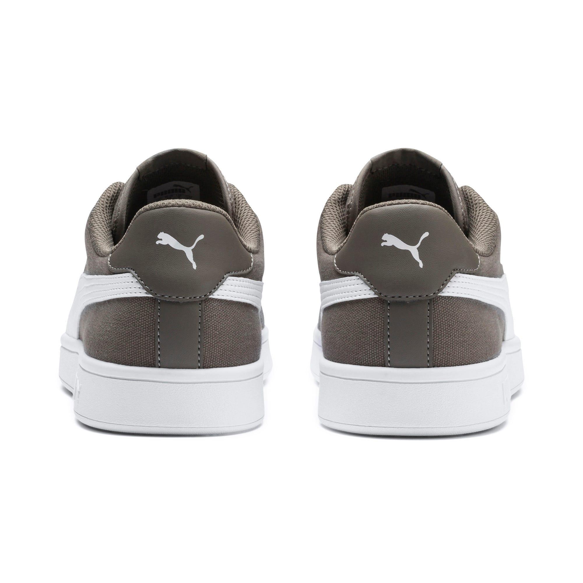 Thumbnail 3 of PUMA Smash v2 Sneakers, Charcoal Gray-Puma White, medium-IND
