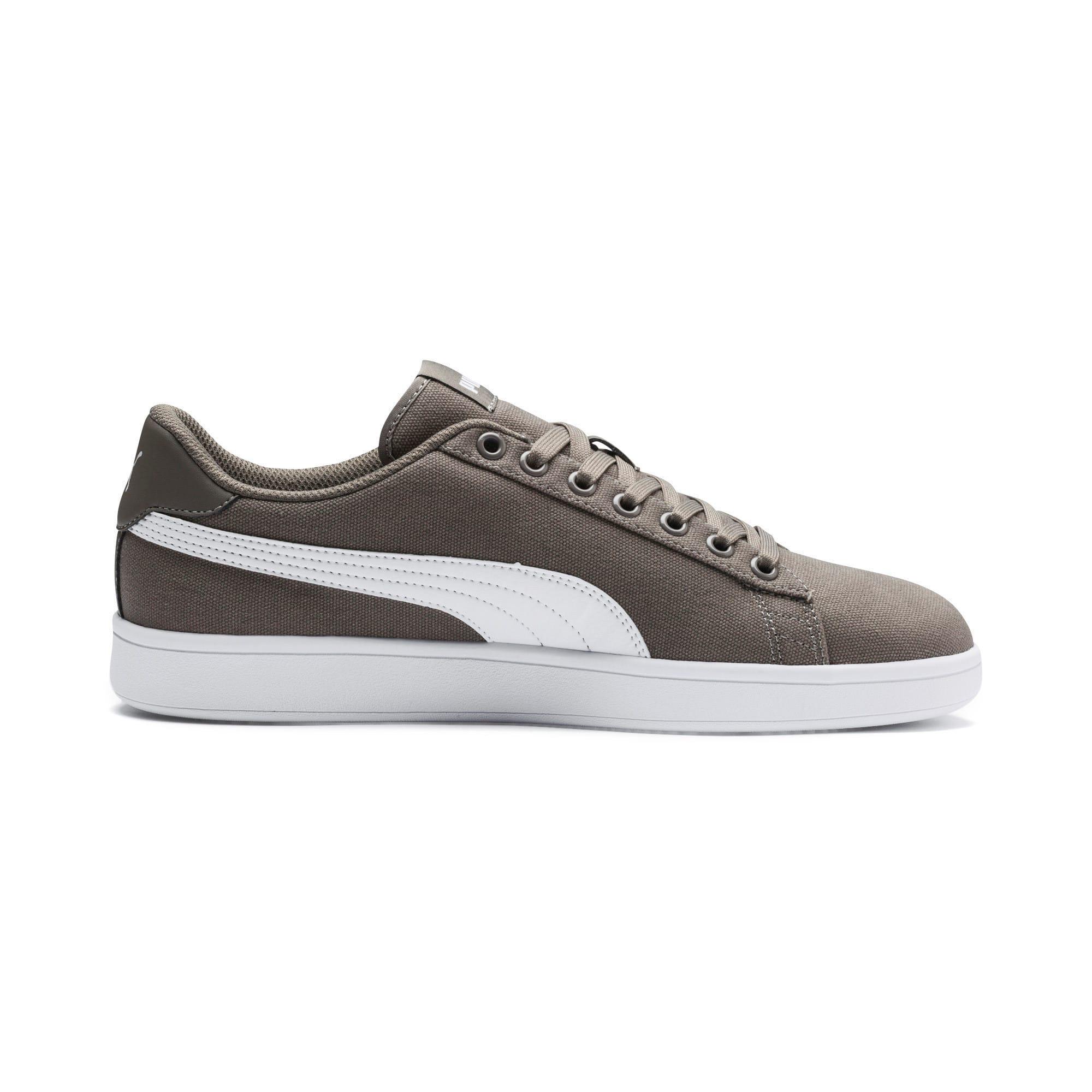 Thumbnail 5 of PUMA Smash v2 Sneakers, Charcoal Gray-Puma White, medium-IND