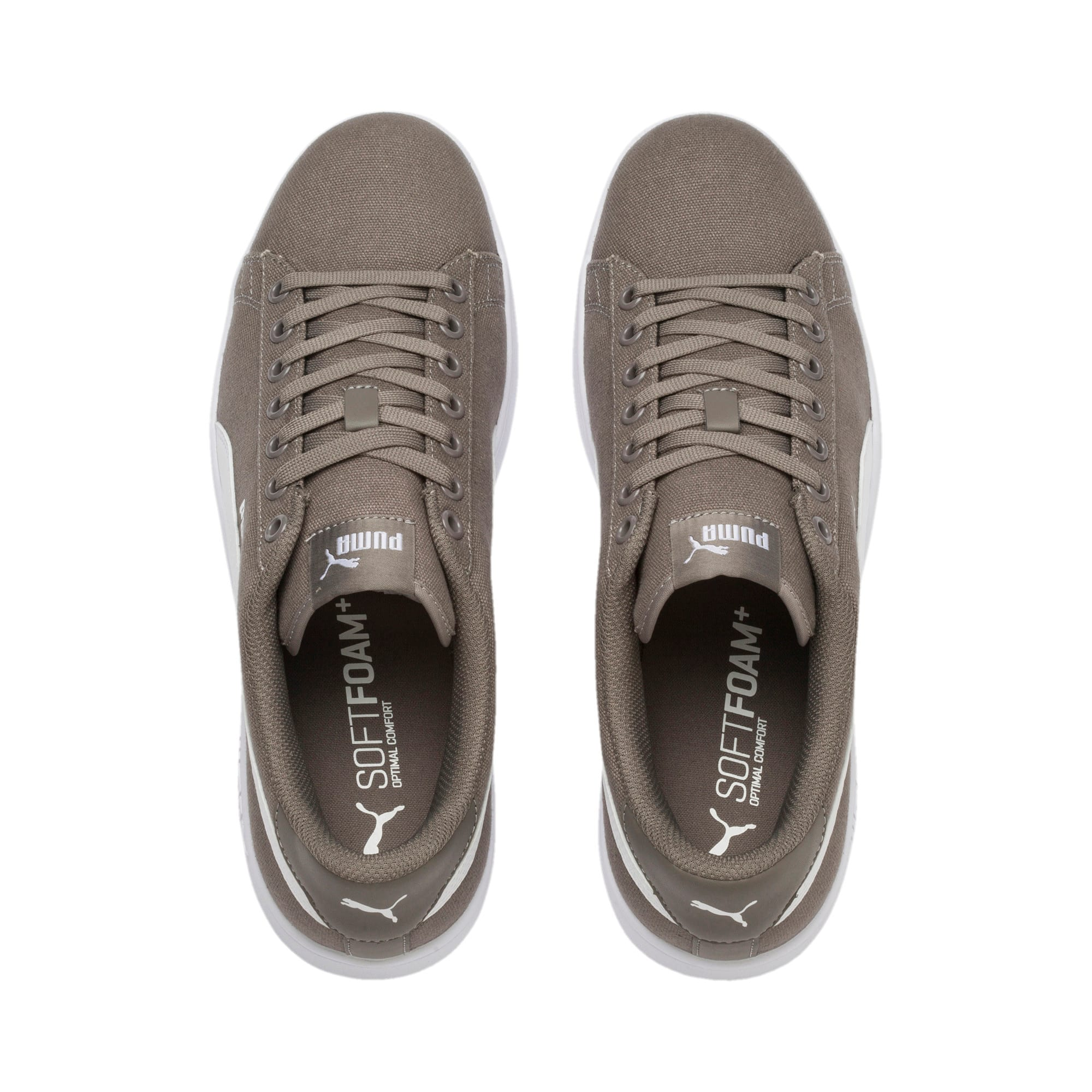Thumbnail 6 of PUMA Smash v2 Sneakers, Charcoal Gray-Puma White, medium-IND