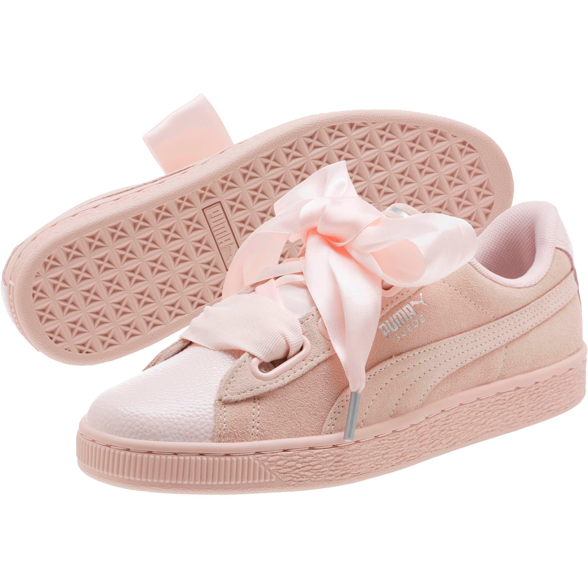 Suede Heart Bubble Women's Sneakers