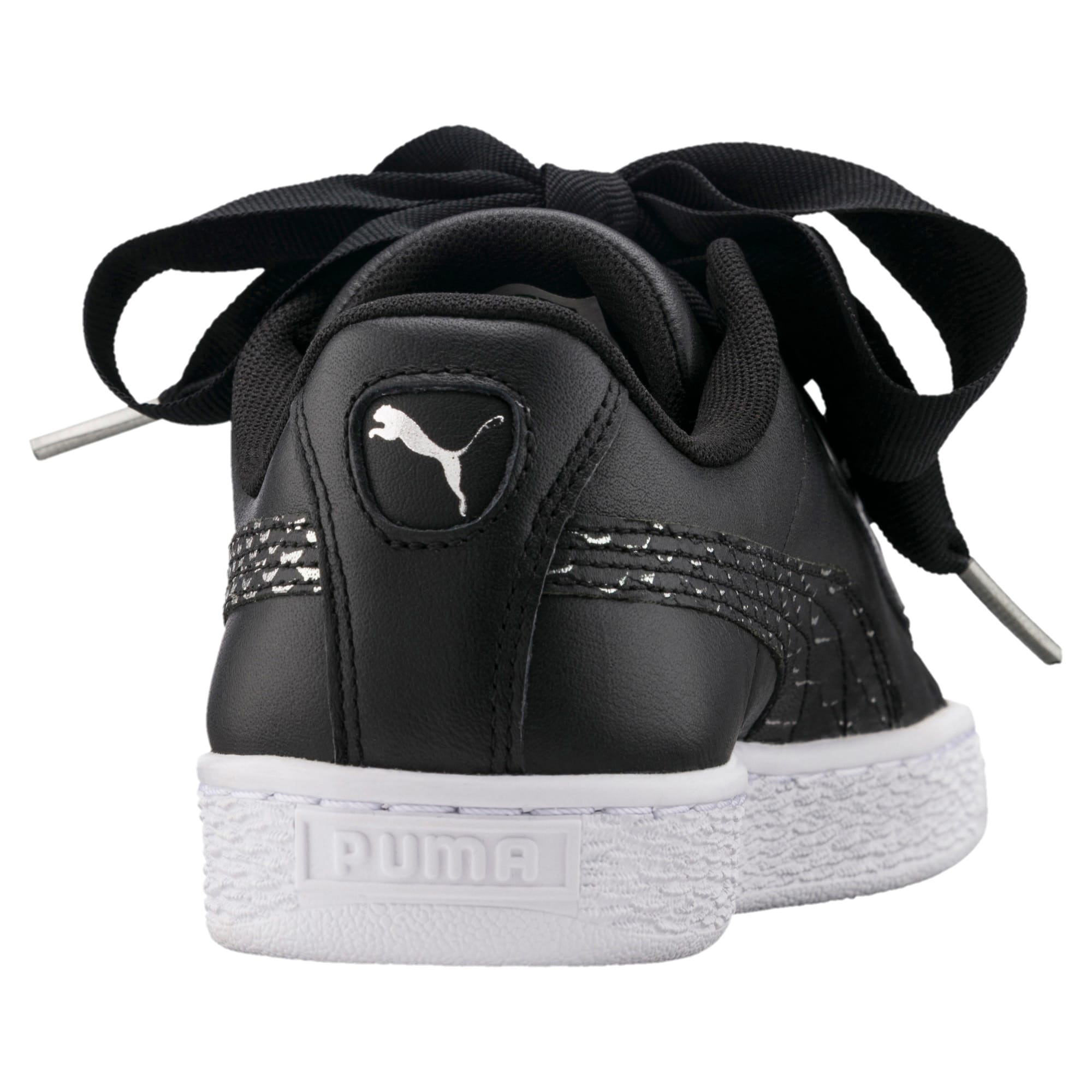 Thumbnail 4 of Basket Heart Oceanaire Women's Trainers, Puma Black-Puma White, medium-IND