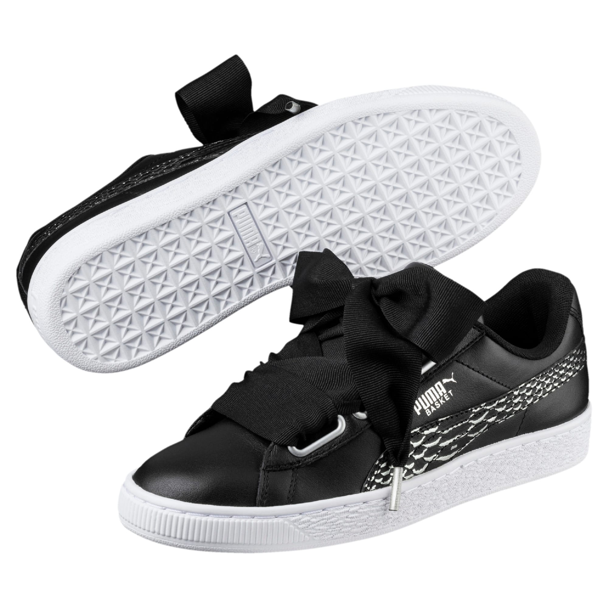 Thumbnail 2 of Basket Heart Oceanaire Women's Trainers, Puma Black-Puma White, medium-IND