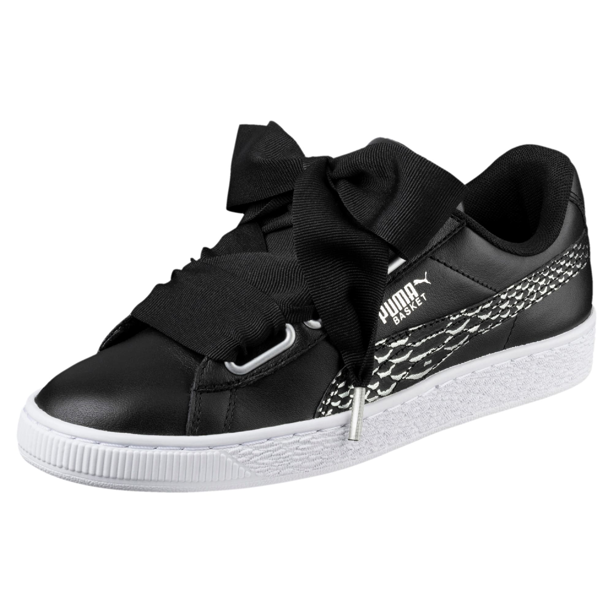 Thumbnail 1 of Basket Heart Oceanaire Women's Trainers, Puma Black-Puma White, medium-IND