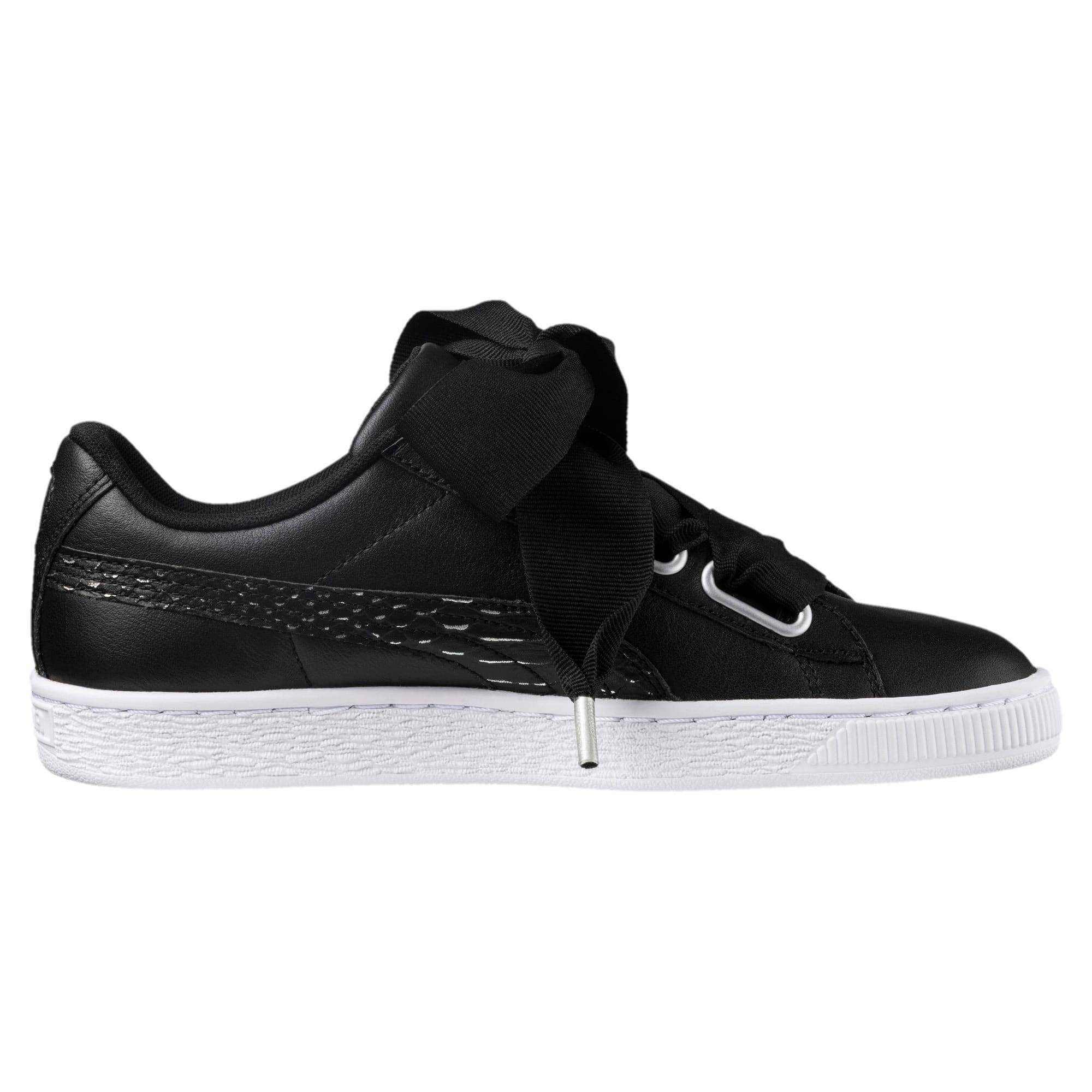 Thumbnail 3 of Basket Heart Oceanaire Women's Trainers, Puma Black-Puma White, medium-IND