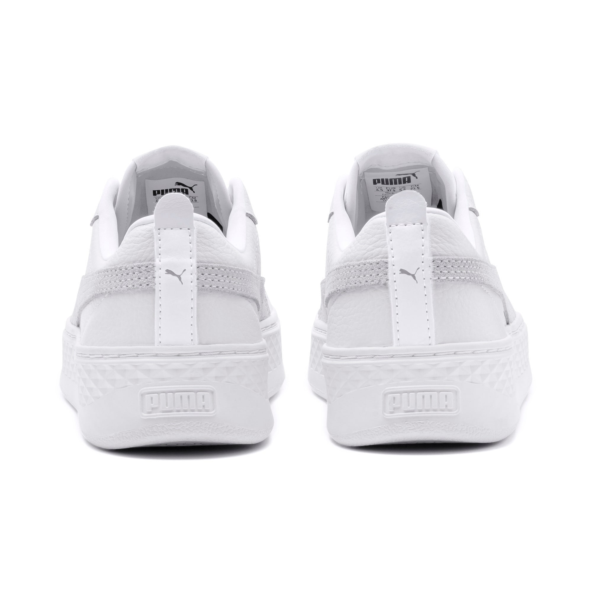 Thumbnail 3 of Puma Smash Platform L, Puma White-Puma White-White, medium