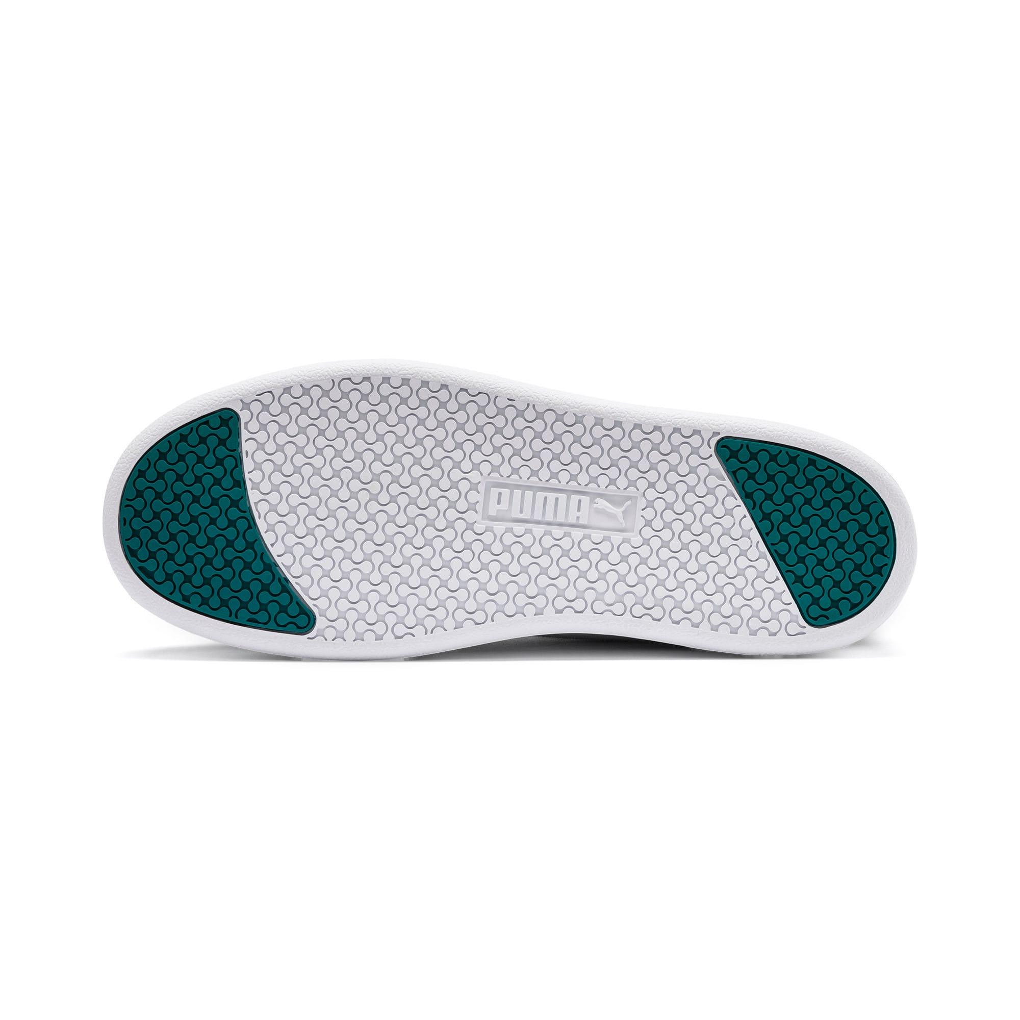 Thumbnail 6 of Puma Smash Platform Women's Shoes, Black-White-T Green-C Coral, medium-IND